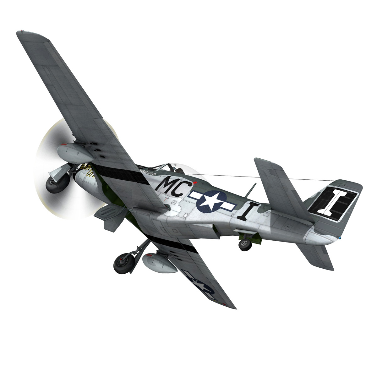 north american p-51 mustang – happy jacks go buggy 3d model fbx c4d lwo obj 280369