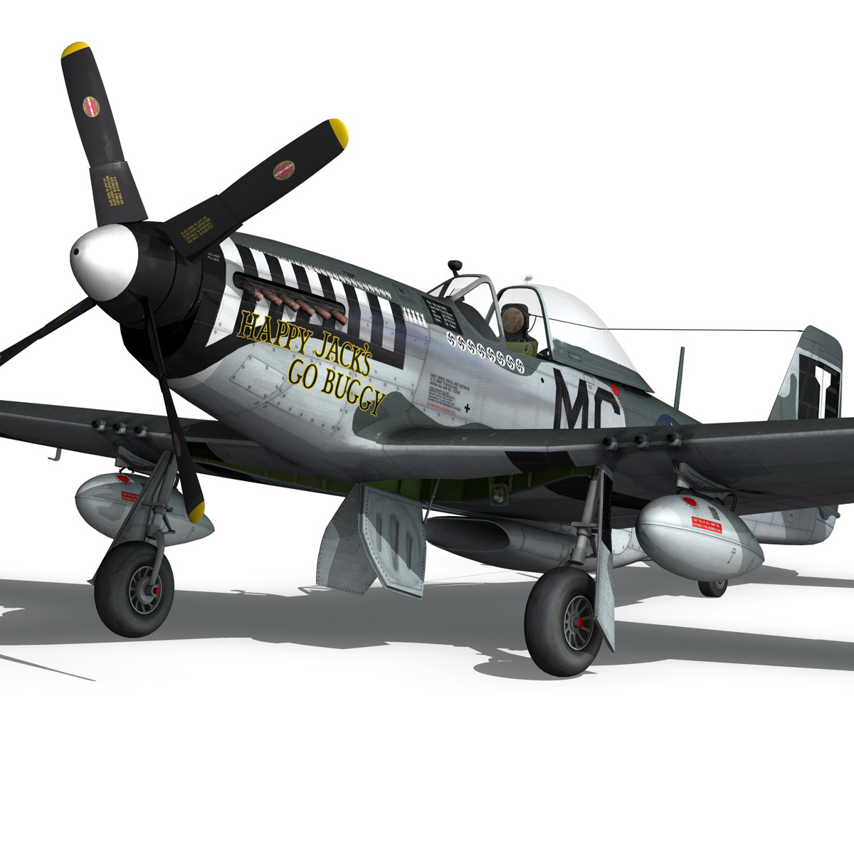 north american p-51 mustang – happy jacks go buggy 3d model fbx c4d lwo obj 280370