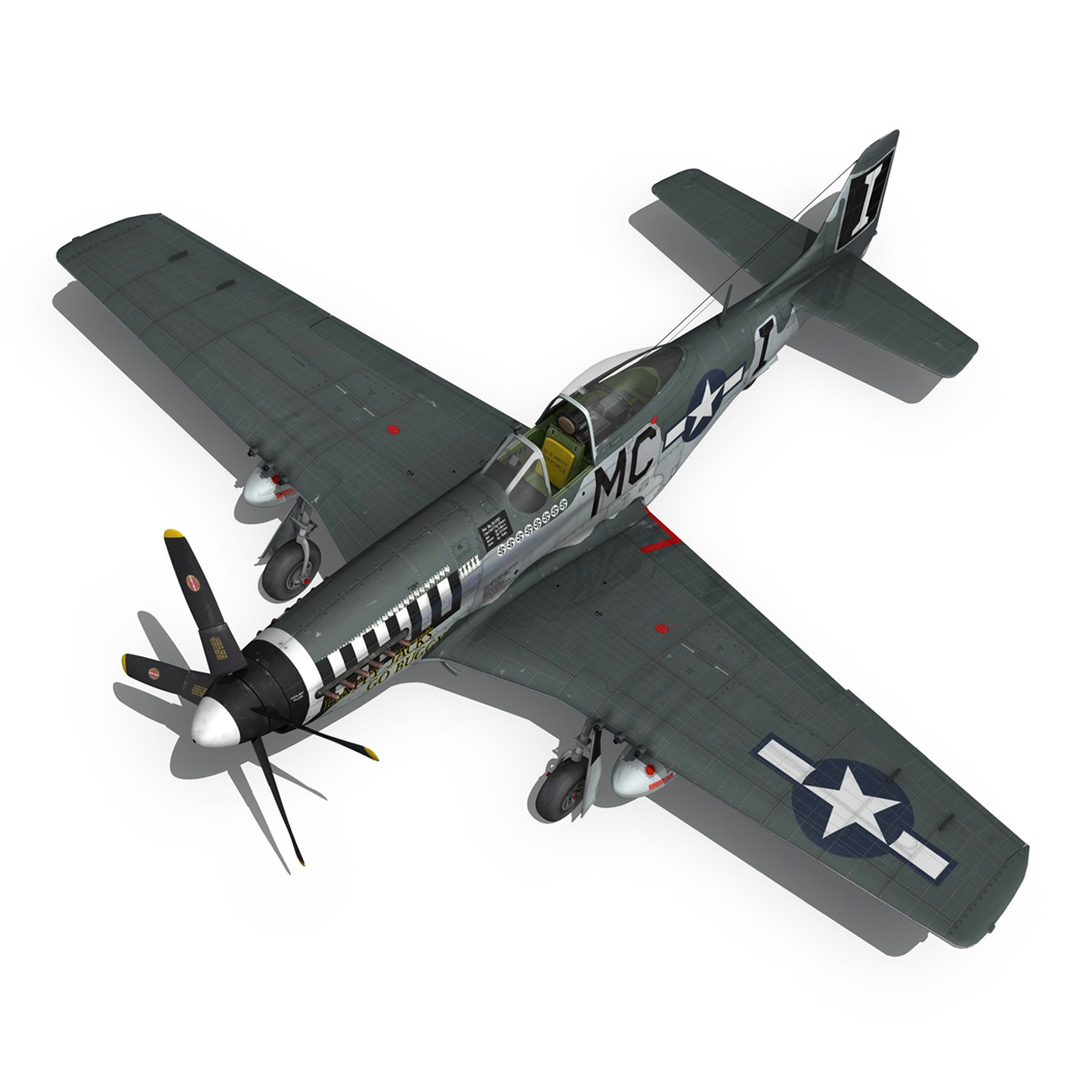 north american p-51 mustang – happy jacks go buggy 3d model fbx c4d lwo obj 280371