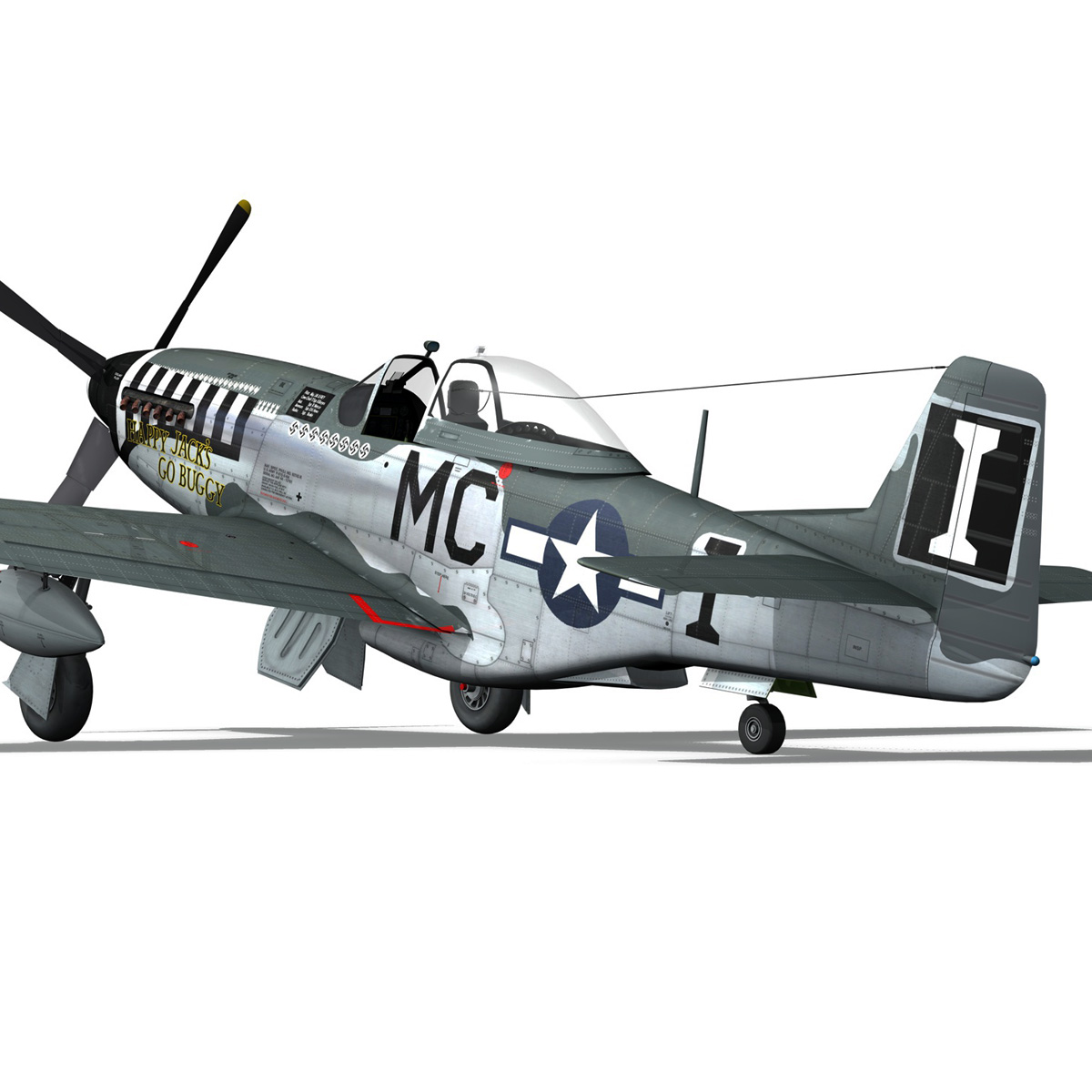 north american p-51 mustang – happy jacks go buggy 3d model fbx c4d lwo obj 280374