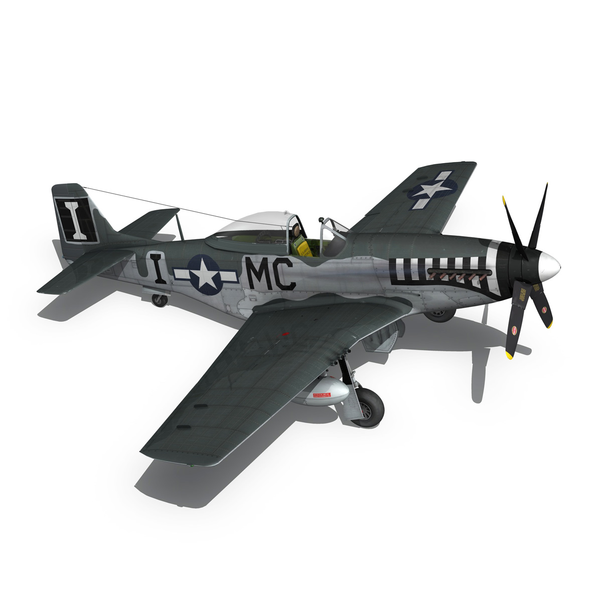 north american p-51 mustang – happy jacks go buggy 3d model fbx c4d lwo obj 280375