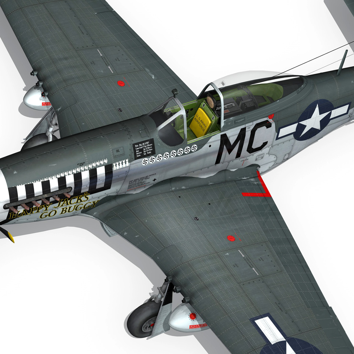 north american p-51 mustang – happy jacks go buggy 3d model fbx c4d lwo obj 280377