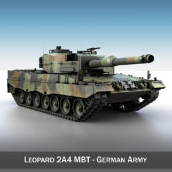 Leopard 2A4 MBT - Germany 3d model high poly virtual reality 3ds fbx c4d lwo lws lw obj