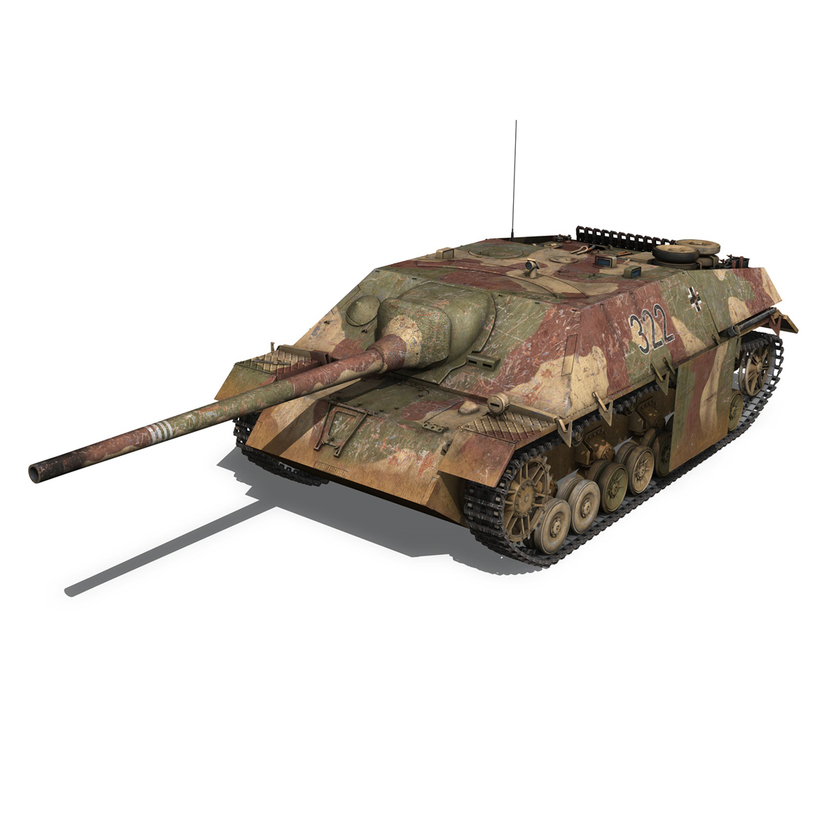 jagdpanzer iv l/70 (v) – 322 – late production 3d model 3ds fbx c4d lwo obj 280412