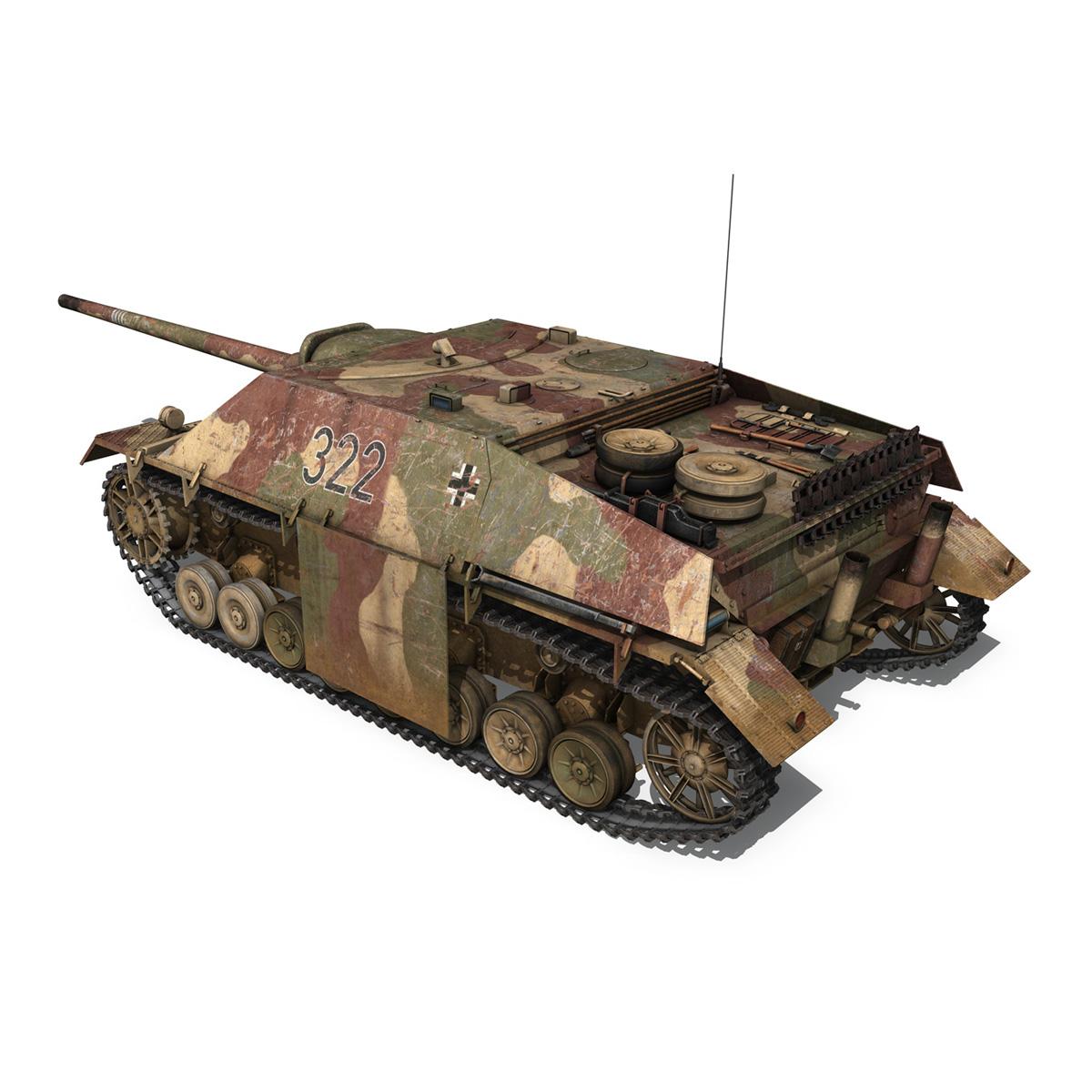 jagdpanzer iv l/70 (v) – 322 – late production 3d model 3ds fbx c4d lwo obj 280414