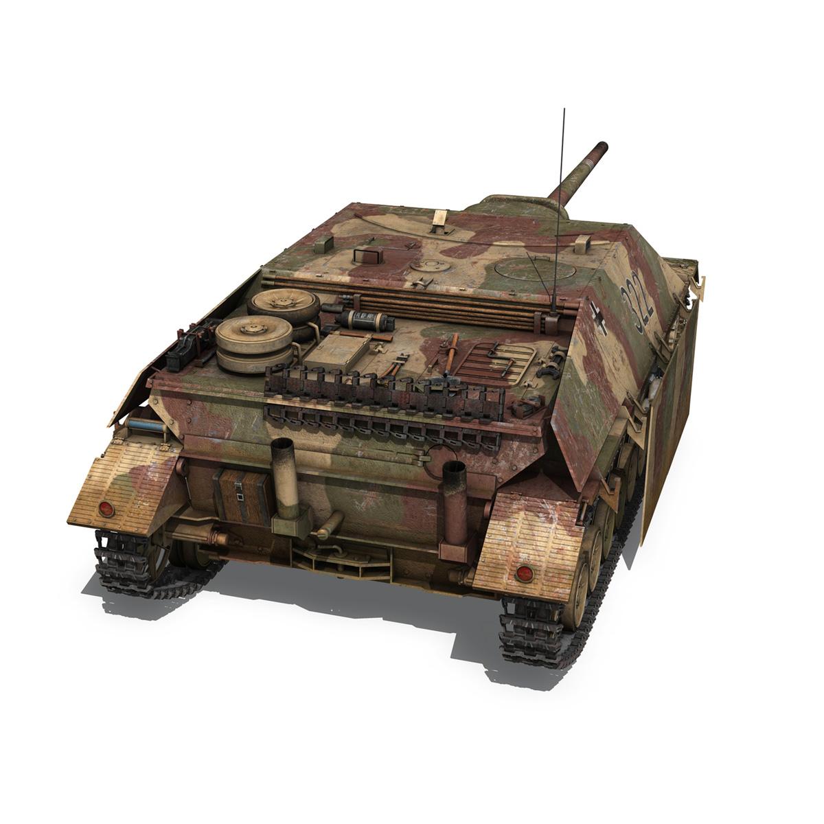 jagdpanzer iv l/70 (v) – 322 – late production 3d model 3ds fbx c4d lwo obj 280415