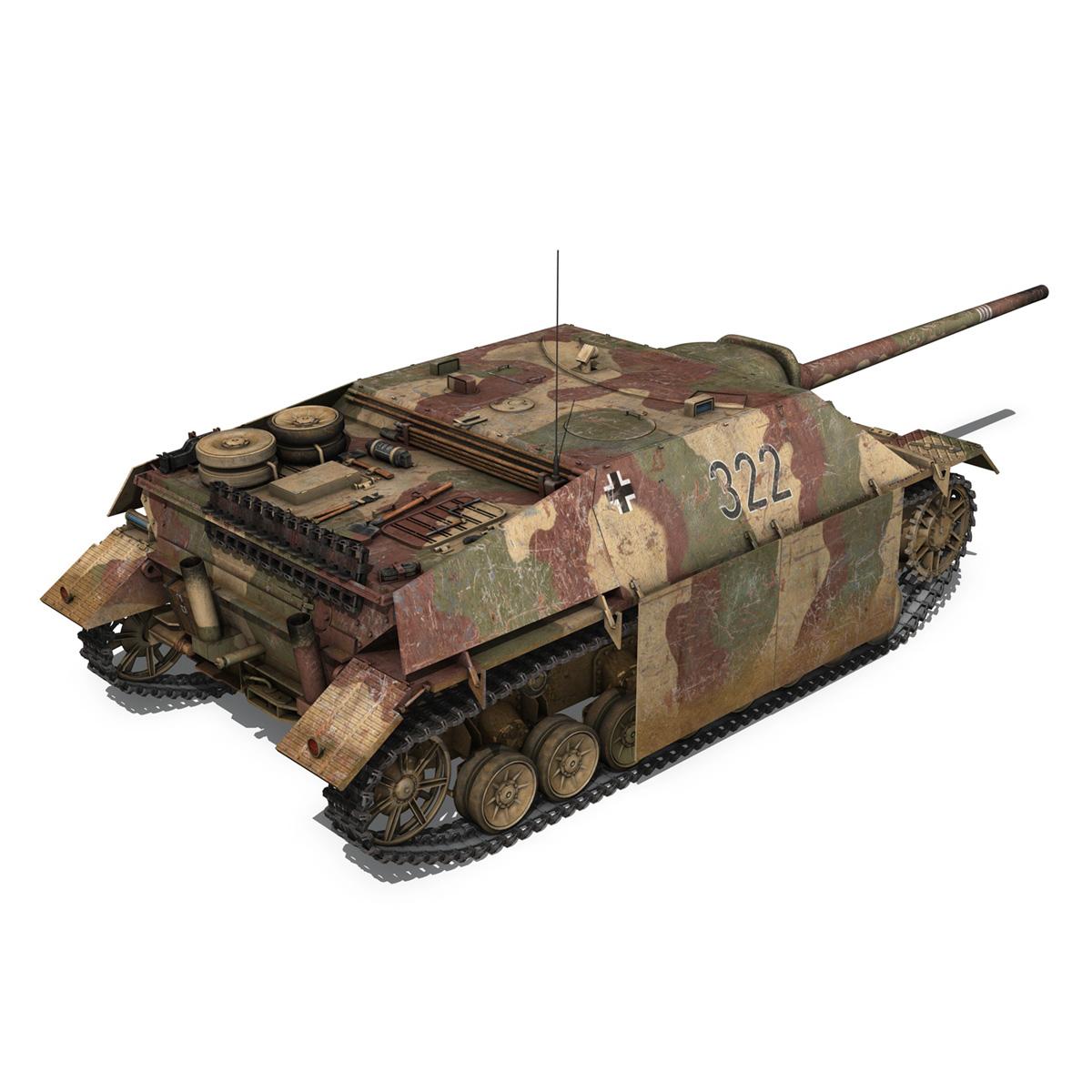 jagdpanzer iv l/70 (v) – 322 – late production 3d model 3ds fbx c4d lwo obj 280416