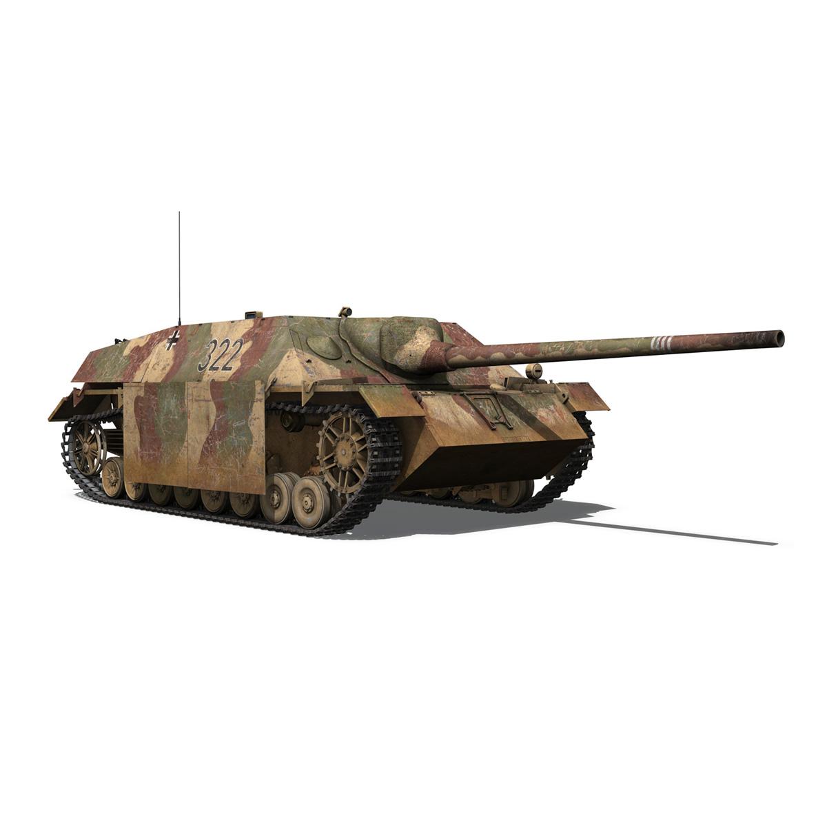 jagdpanzer iv l/70 (v) – 322 – late production 3d model 3ds fbx c4d lwo obj 280418