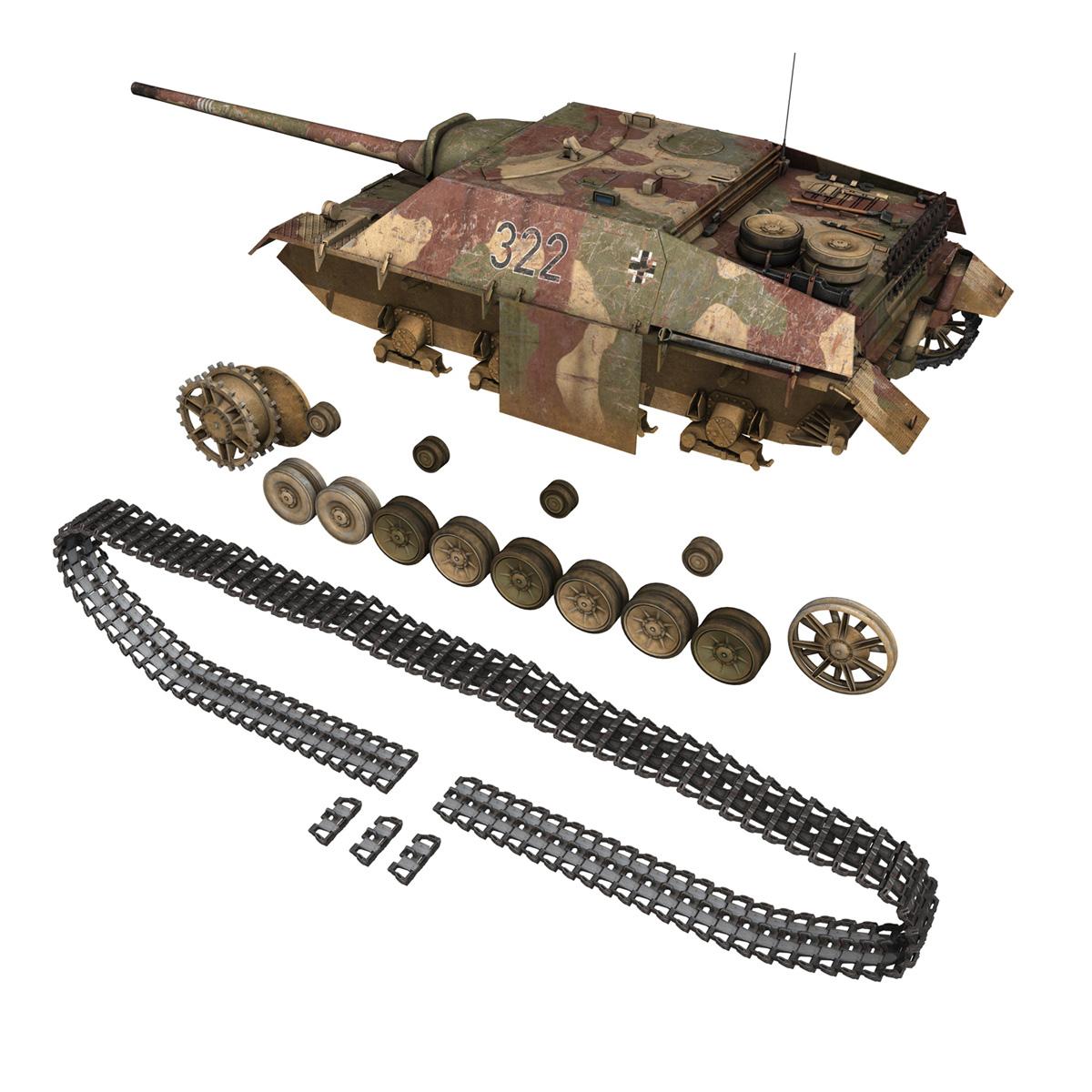 jagdpanzer iv l/70 (v) – 322 – late production 3d model 3ds fbx c4d lwo obj 280419