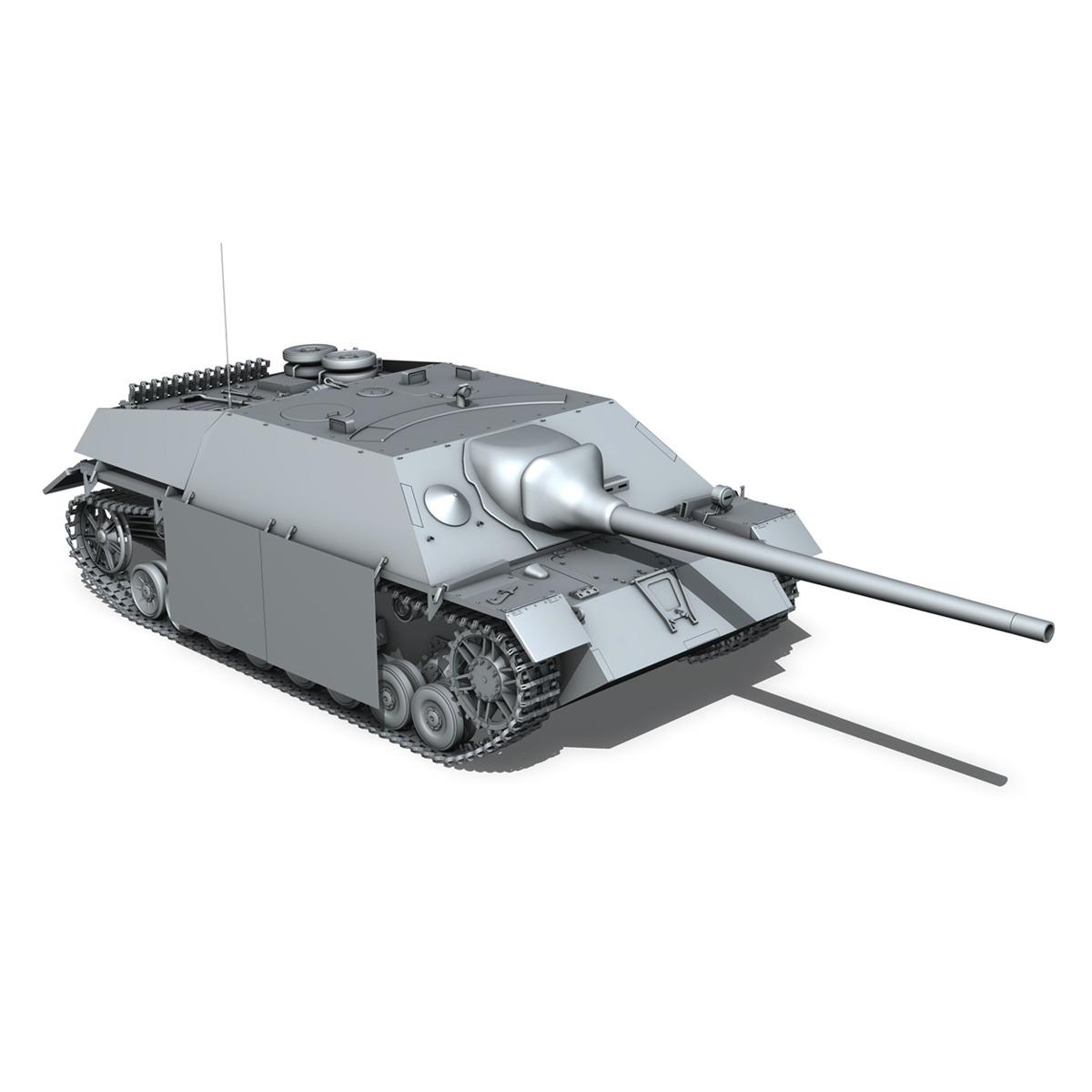 jagdpanzer iv l/70 (v) – 322 – late production 3d model 3ds fbx c4d lwo obj 280420
