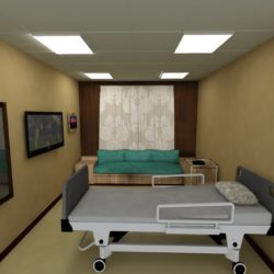 HOSPITAL ROOM 3d model render ready max