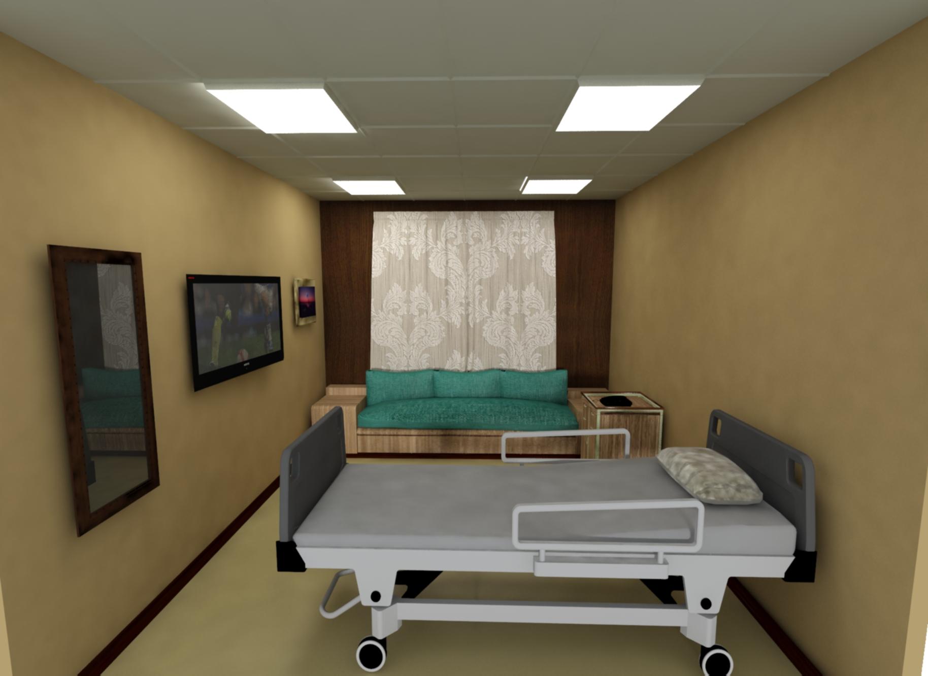 HOSPITAL ROOM 3d model max 280817