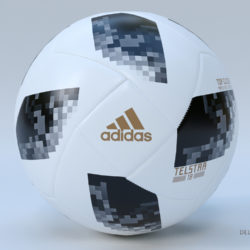 Soccer Ball Adidas 2018 FIFA World Cup Russia 3d model 3d printing high poly render ready