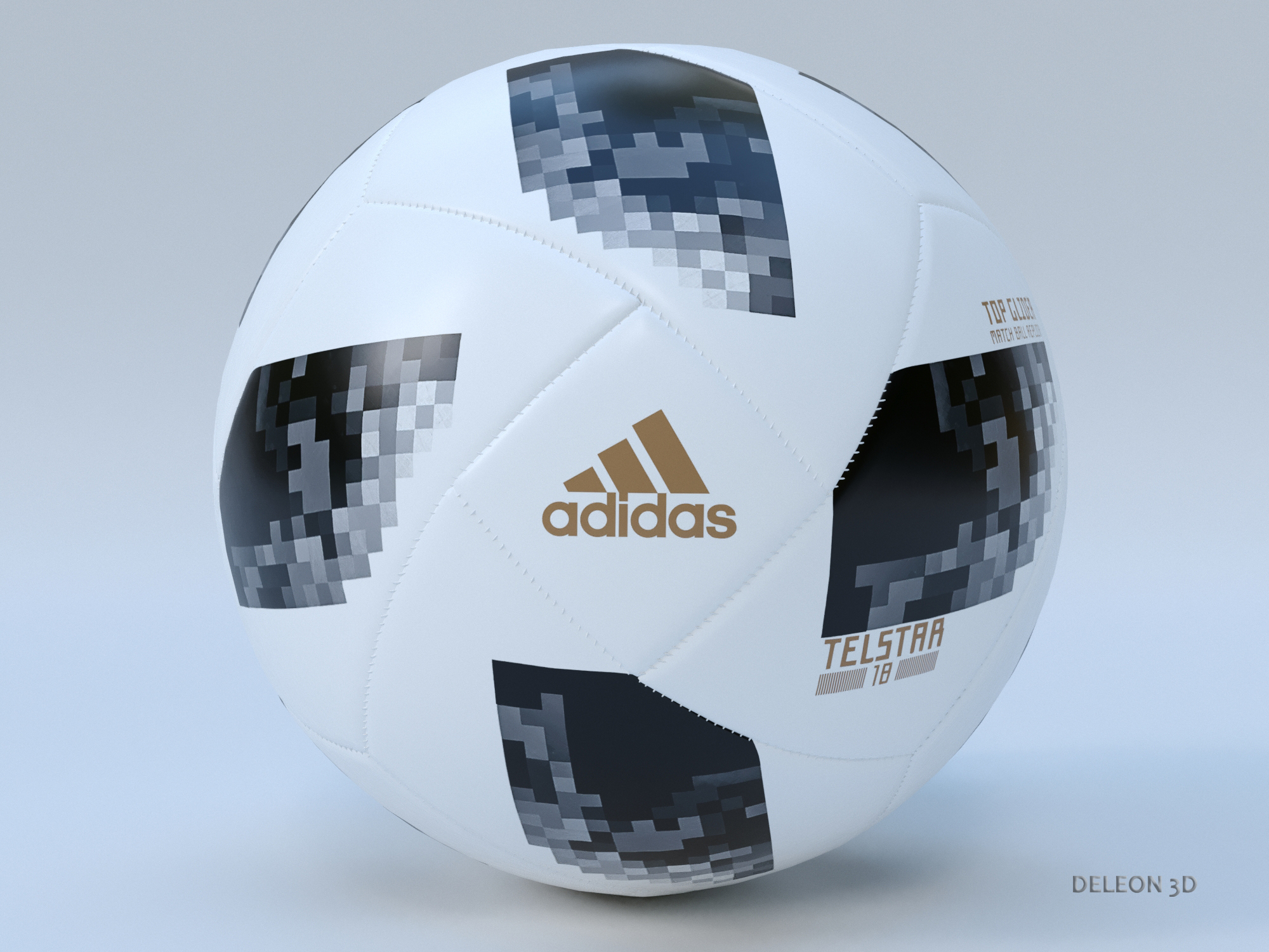 Soccer Ball Adidas 2018 FIFA World Cup Russia 3d model  281442