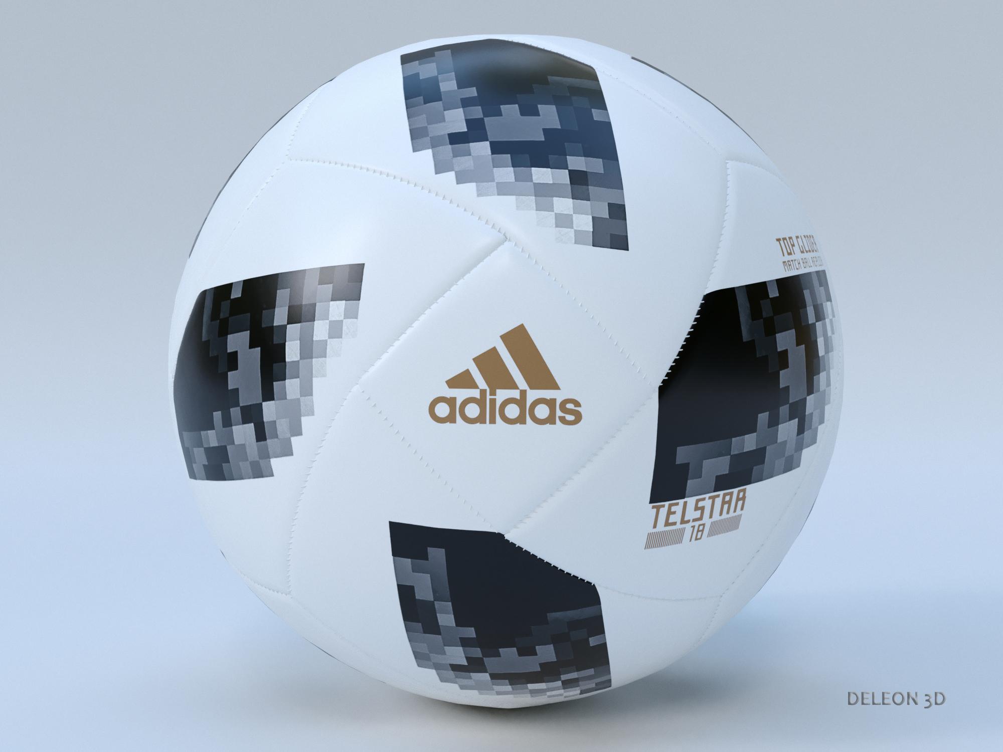 soccer ball adidas 2018 fifa world cup russia 3d model max max max lxo fbx c4d jpeg stl obj 281442