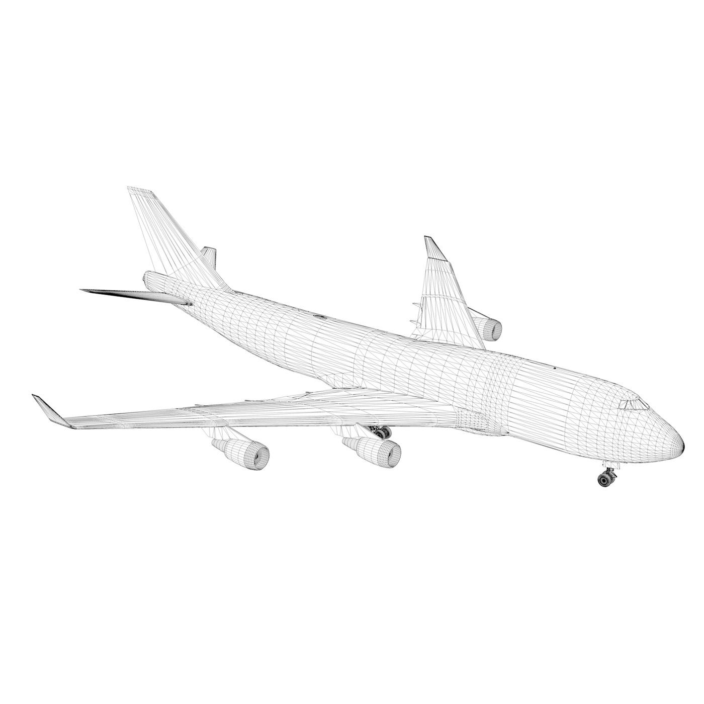 boeing 747 qantas wunala dreaming 3d model 3ds fbx c4d lwo obj 281798