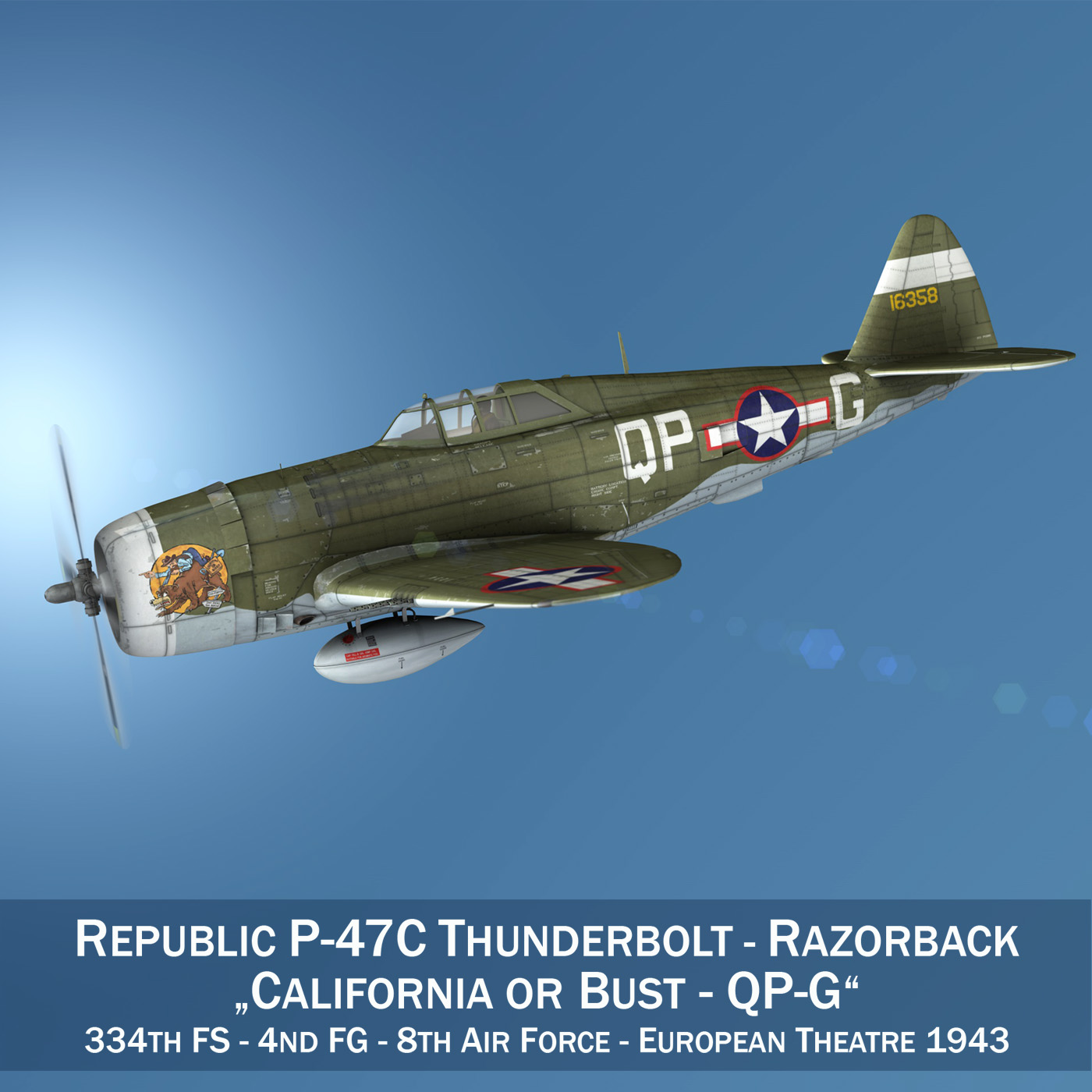 republic p-47c thunderbolt – california or bust 3d model 3ds fbx c4d lwo obj 281805