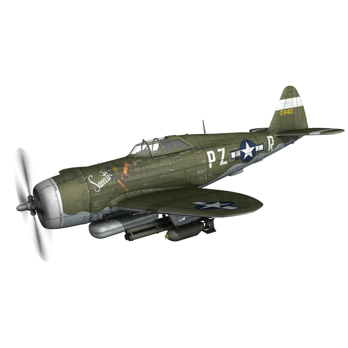republic p-47d thunderbolt – sweetie – pz-r 3d model 3ds fbx c4d lwo obj 281832