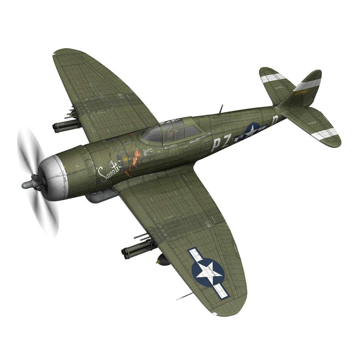 republic p-47d thunderbolt – sweetie – pz-r 3d model 3ds fbx c4d lwo obj 281833
