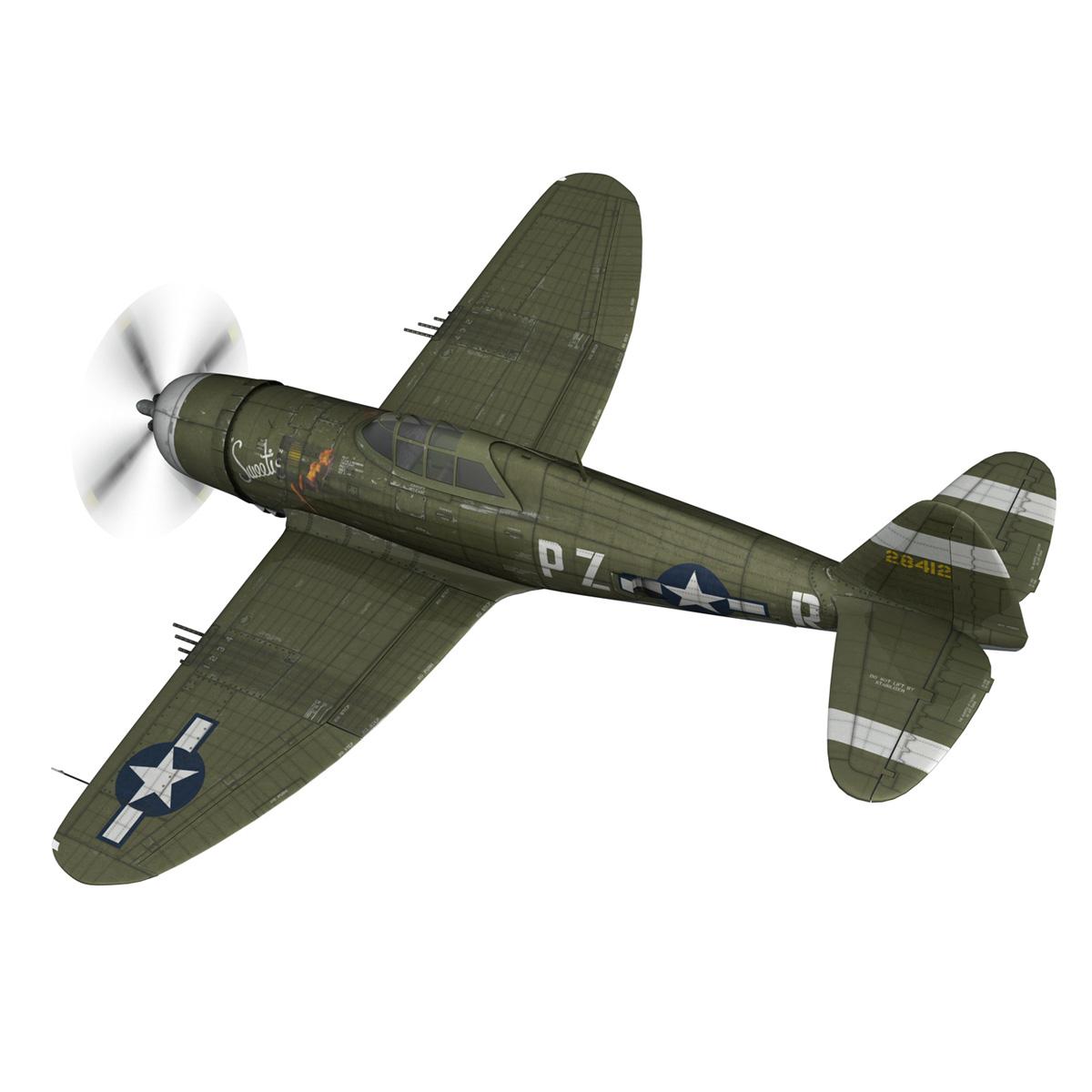 republic p-47d thunderbolt – sweetie – pz-r 3d model 3ds fbx c4d lwo obj 281834