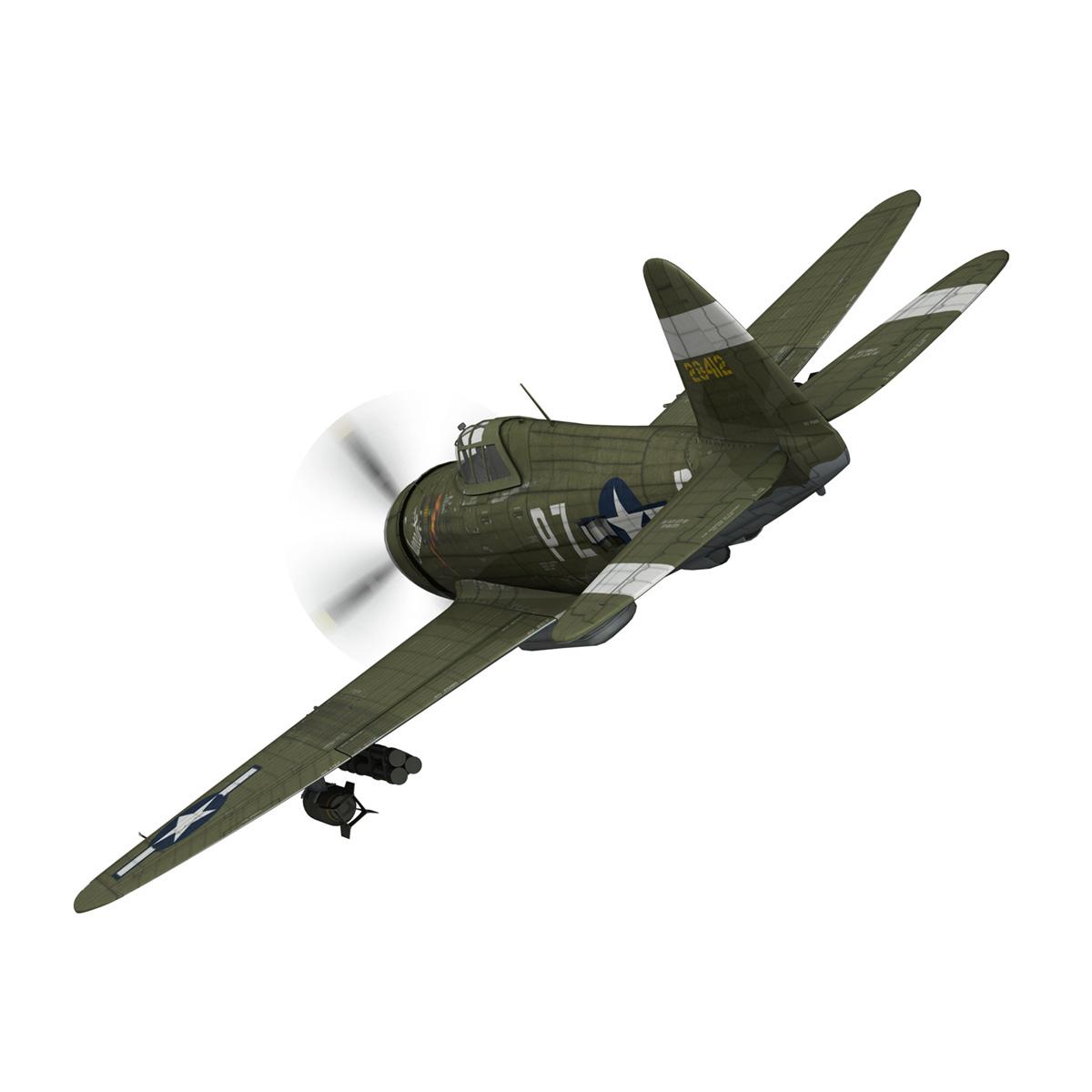 republic p-47d thunderbolt – sweetie – pz-r 3d model 3ds fbx c4d lwo obj 281835