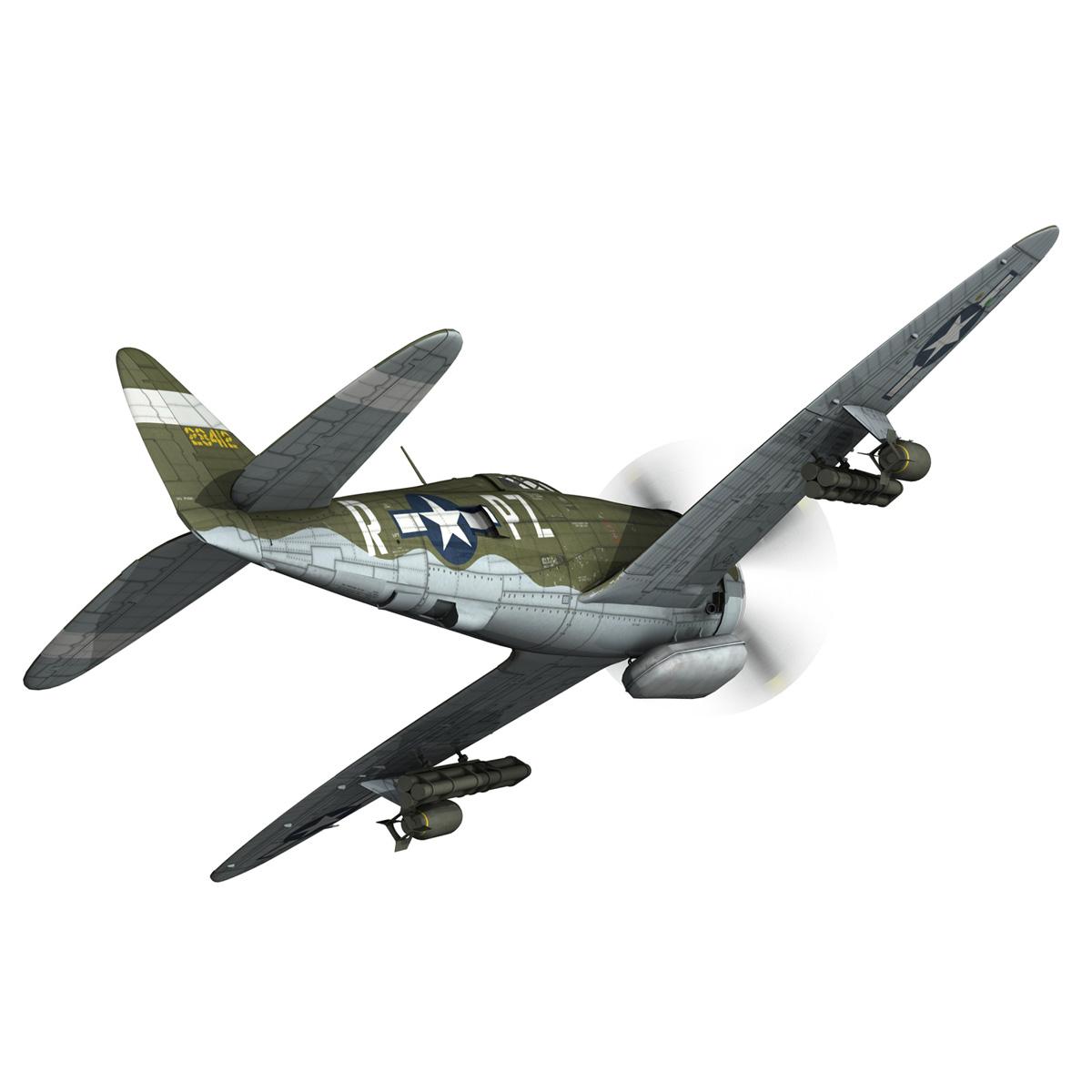 republic p-47d thunderbolt – sweetie – pz-r 3d model 3ds fbx c4d lwo obj 281836