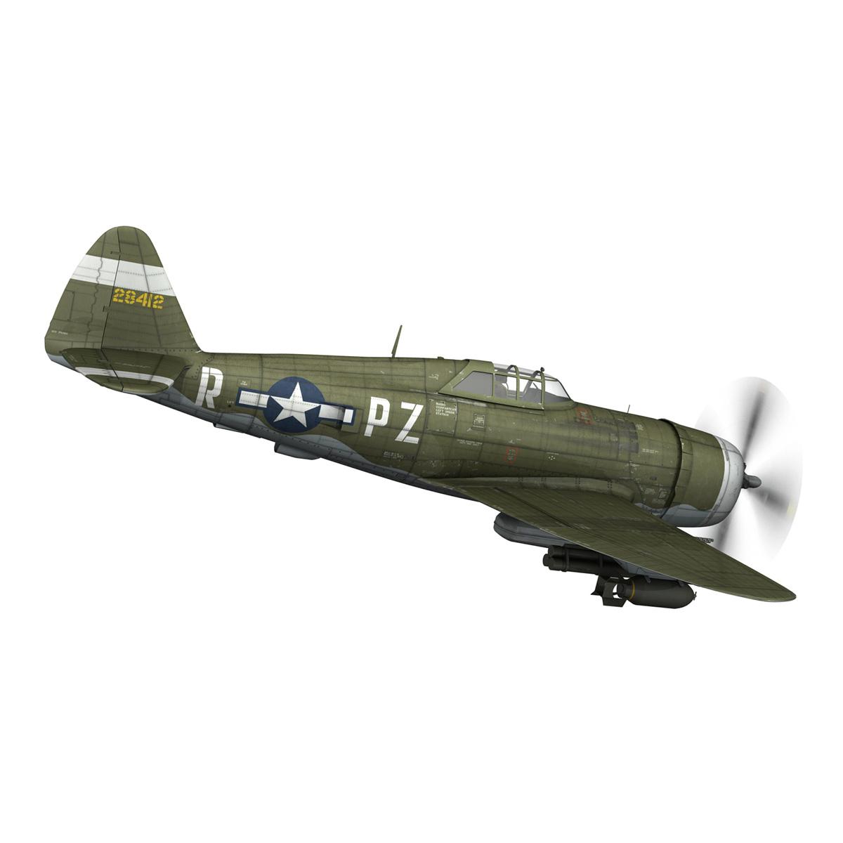 republic p-47d thunderbolt – sweetie – pz-r 3d model 3ds fbx c4d lwo obj 281837