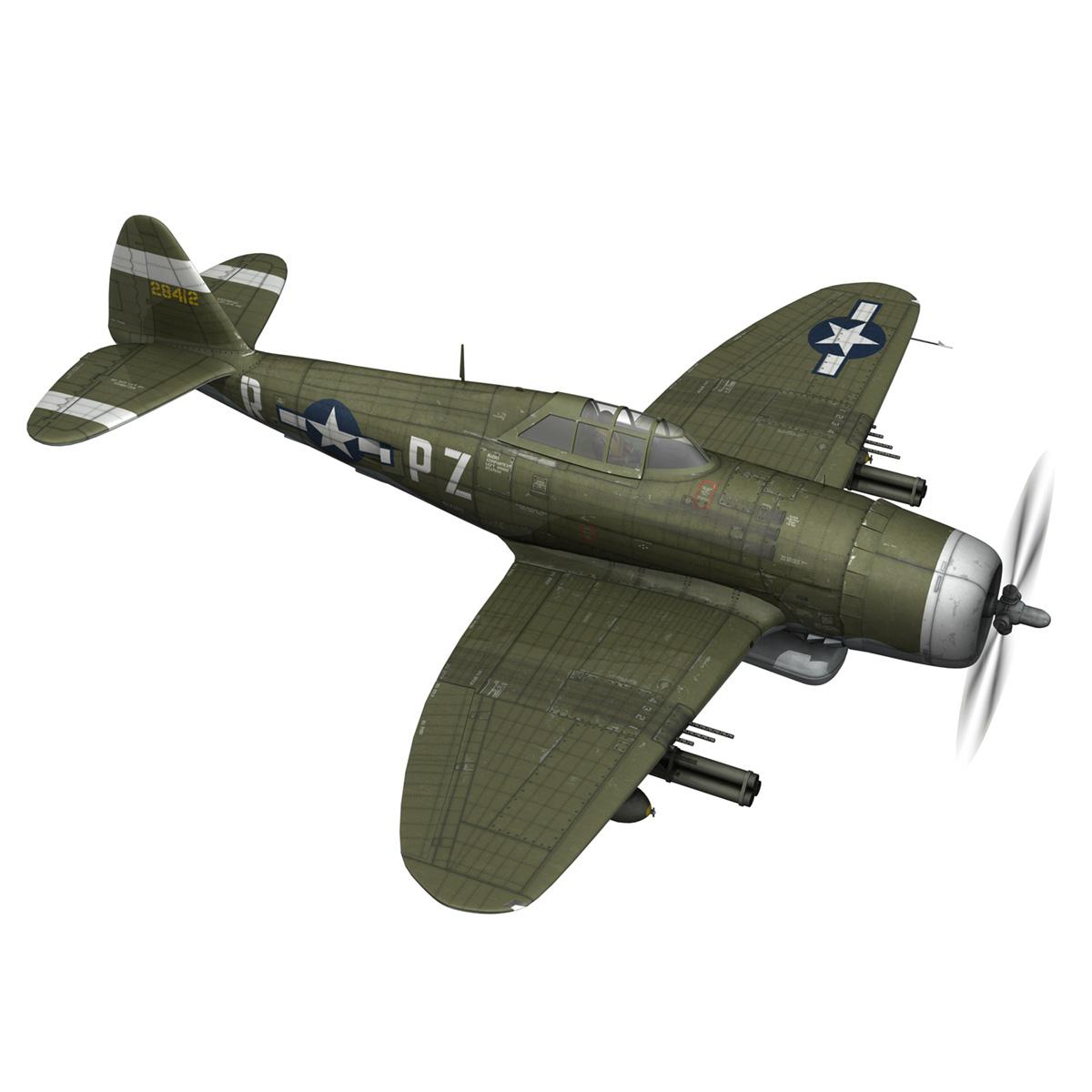 republic p-47d thunderbolt – sweetie – pz-r 3d model 3ds fbx c4d lwo obj 281838