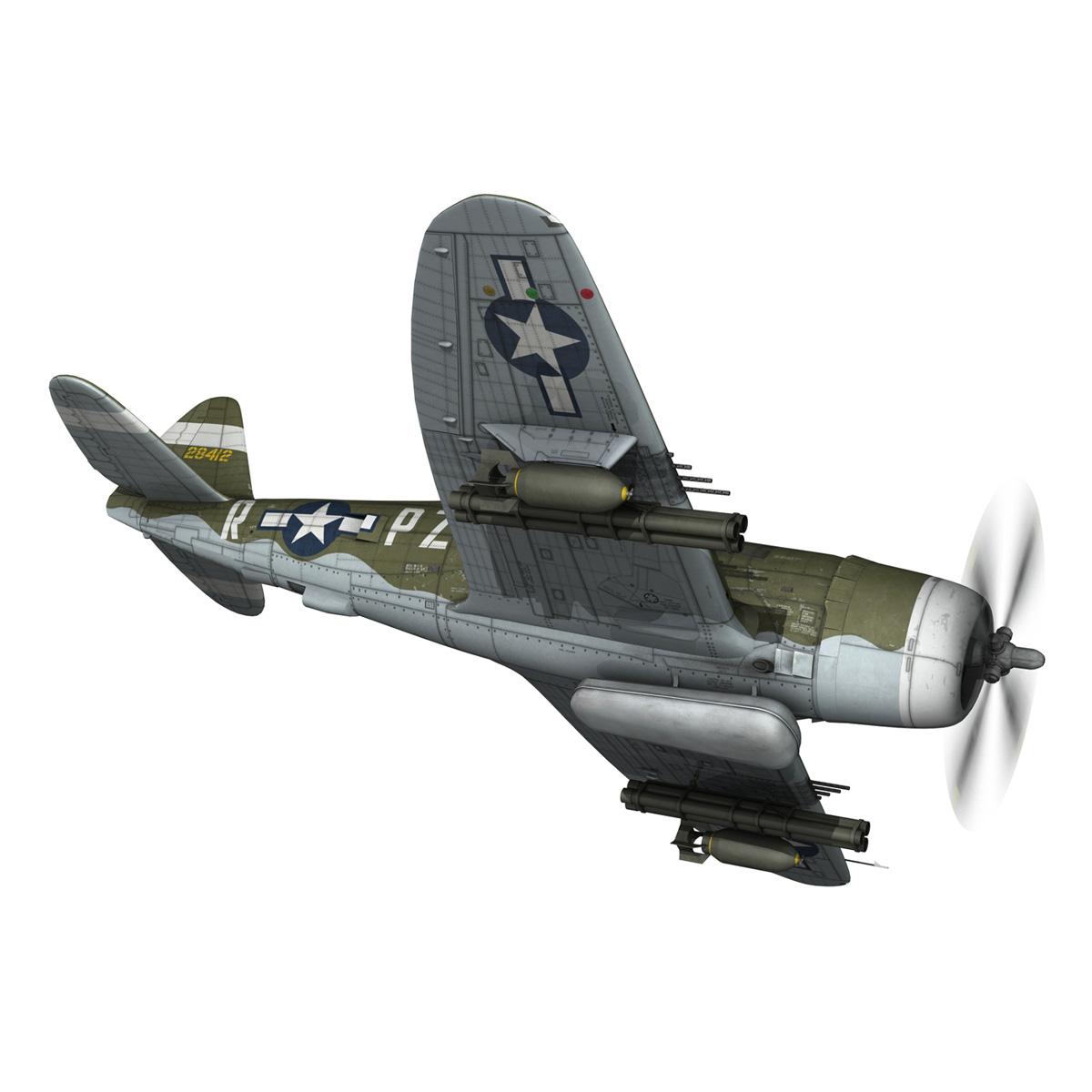 republic p-47d thunderbolt – sweetie – pz-r 3d model 3ds fbx c4d lwo obj 281839
