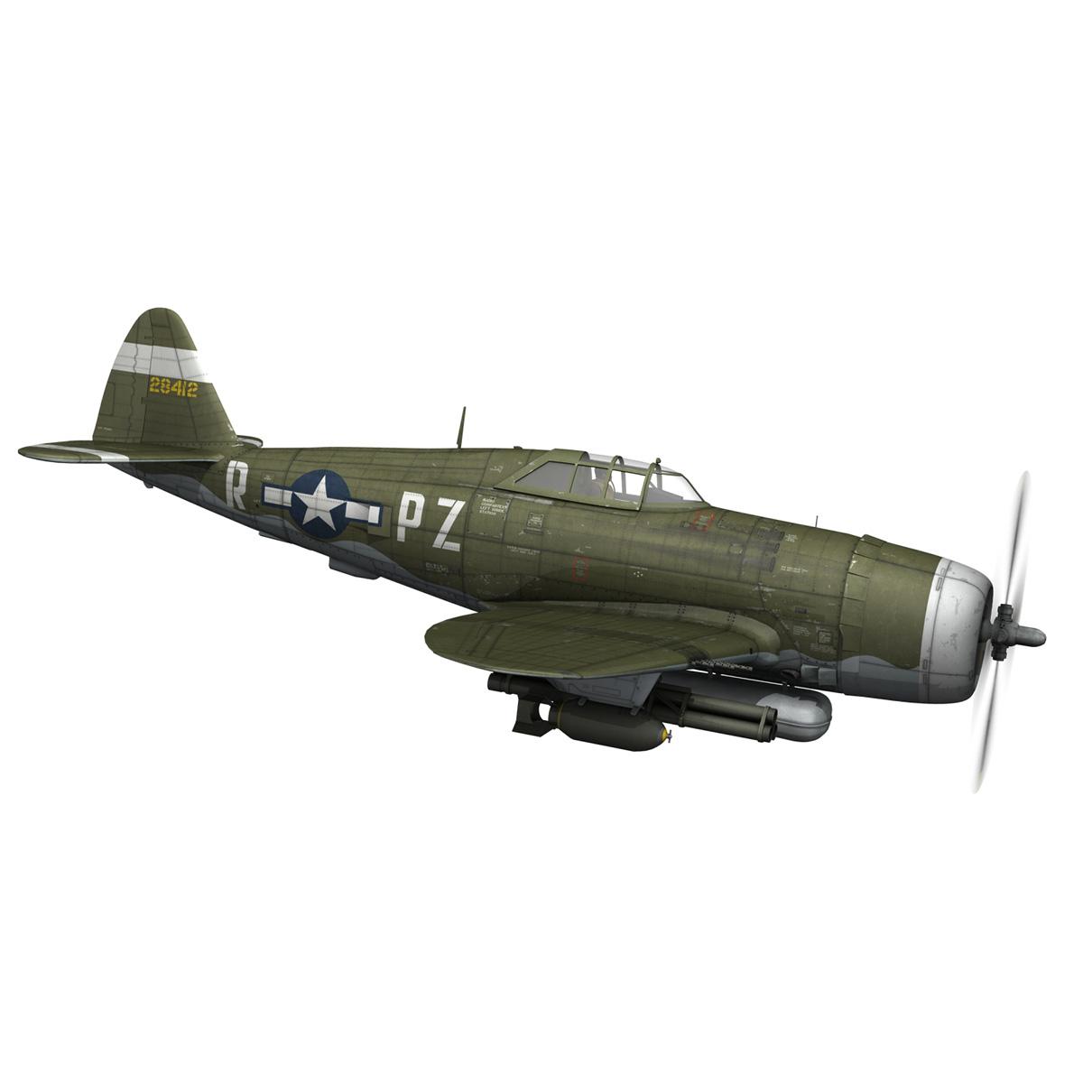 republic p-47d thunderbolt – sweetie – pz-r 3d model 3ds fbx c4d lwo obj 281840