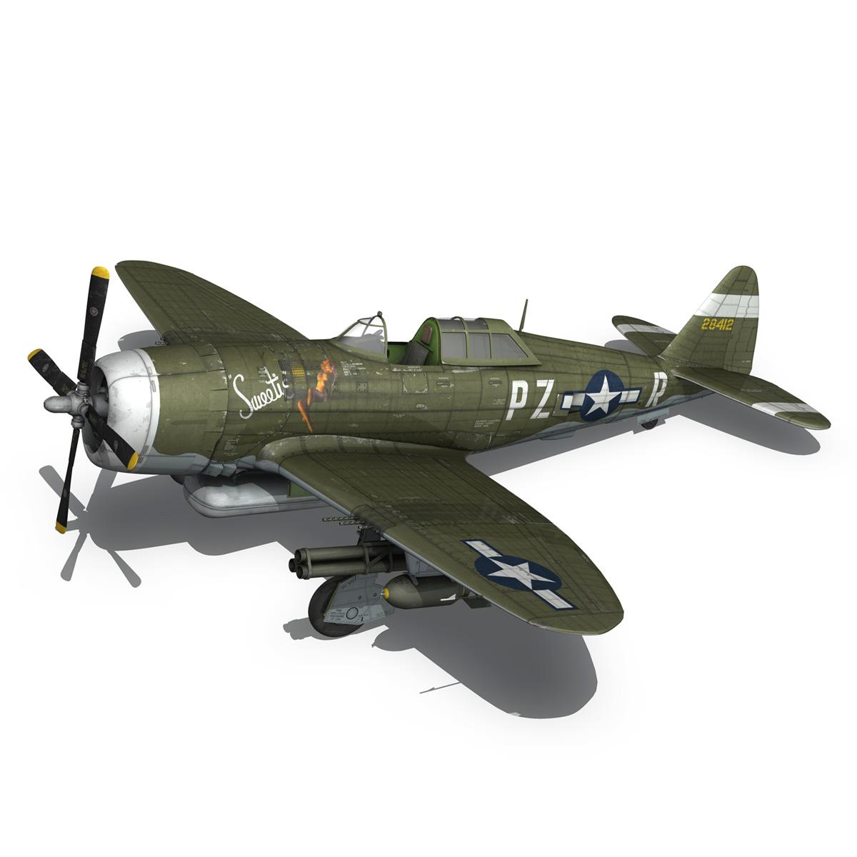 republic p-47d thunderbolt – sweetie – pz-r 3d model 3ds fbx c4d lwo obj 281841