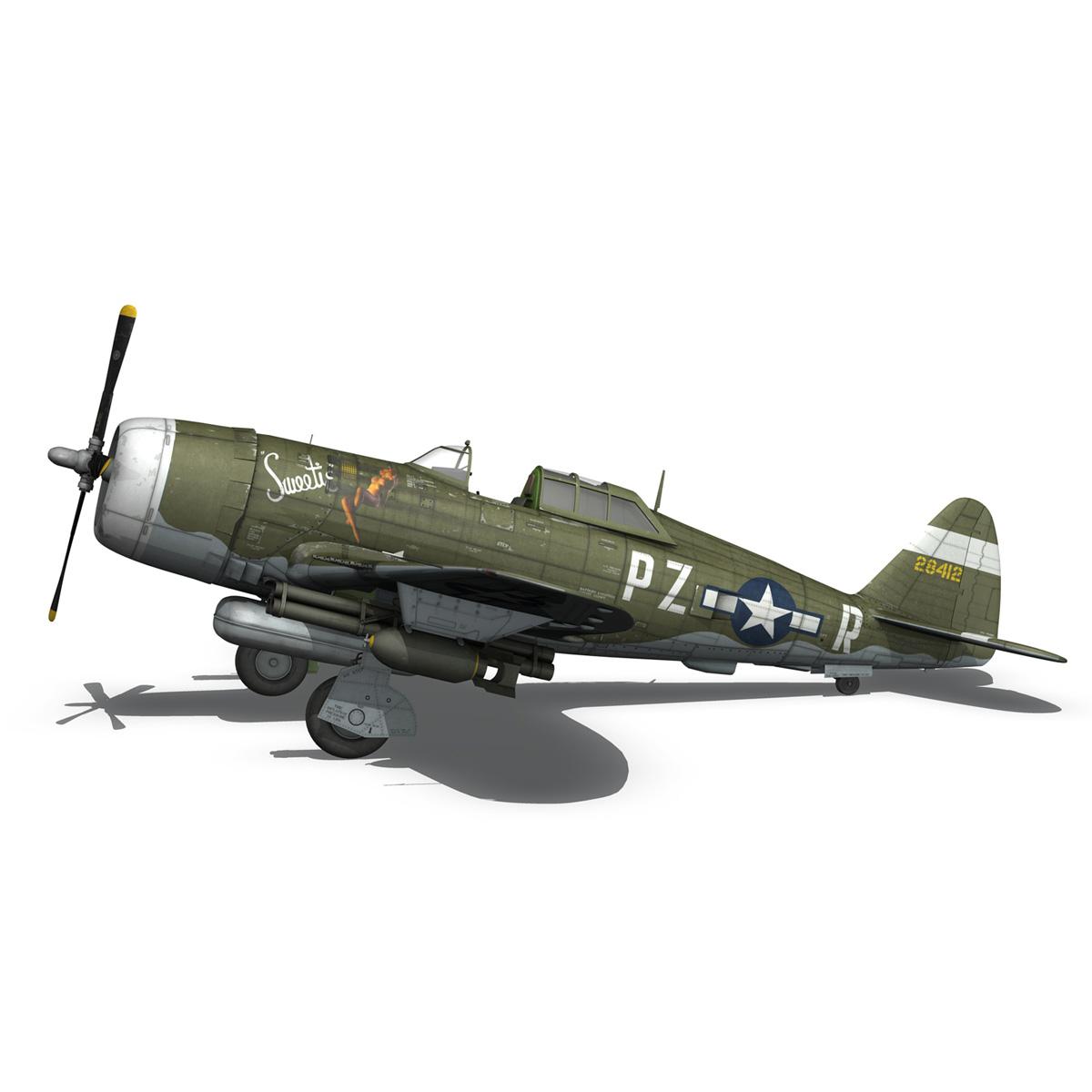 republic p-47d thunderbolt – sweetie – pz-r 3d model 3ds fbx c4d lwo obj 281842