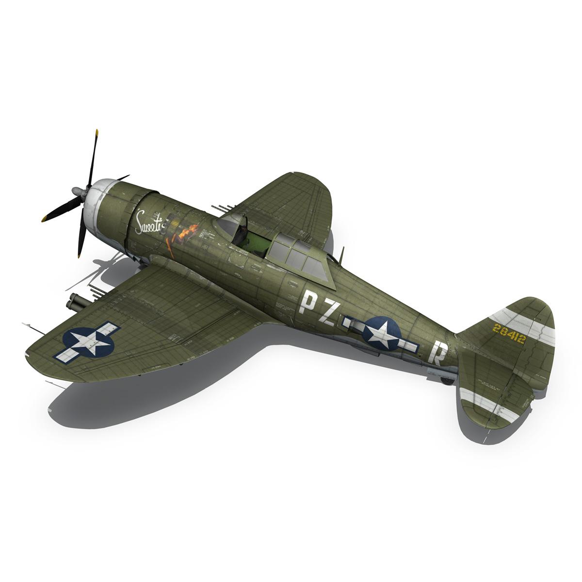 republic p-47d thunderbolt – sweetie – pz-r 3d model 3ds fbx c4d lwo obj 281843