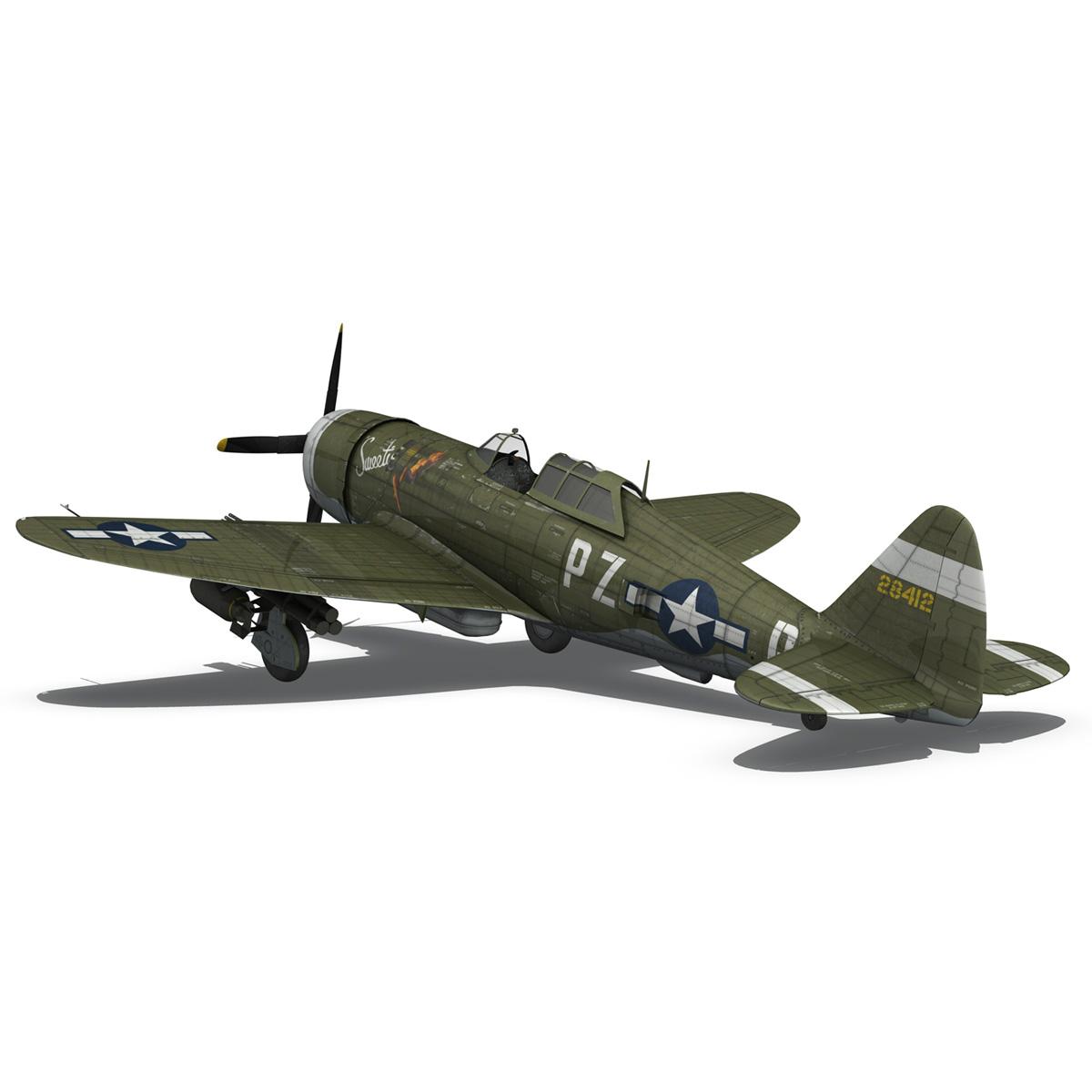 republic p-47d thunderbolt – sweetie – pz-r 3d model 3ds fbx c4d lwo obj 281844