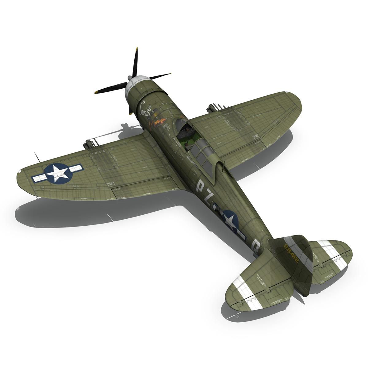 republic p-47d thunderbolt – sweetie – pz-r 3d model 3ds fbx c4d lwo obj 281845