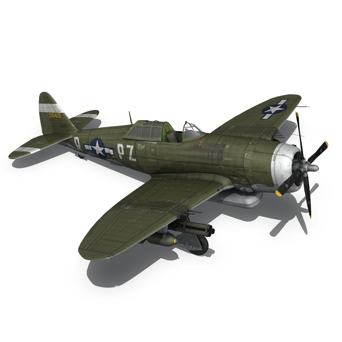 republic p-47d thunderbolt – sweetie – pz-r 3d model 3ds fbx c4d lwo obj 281846