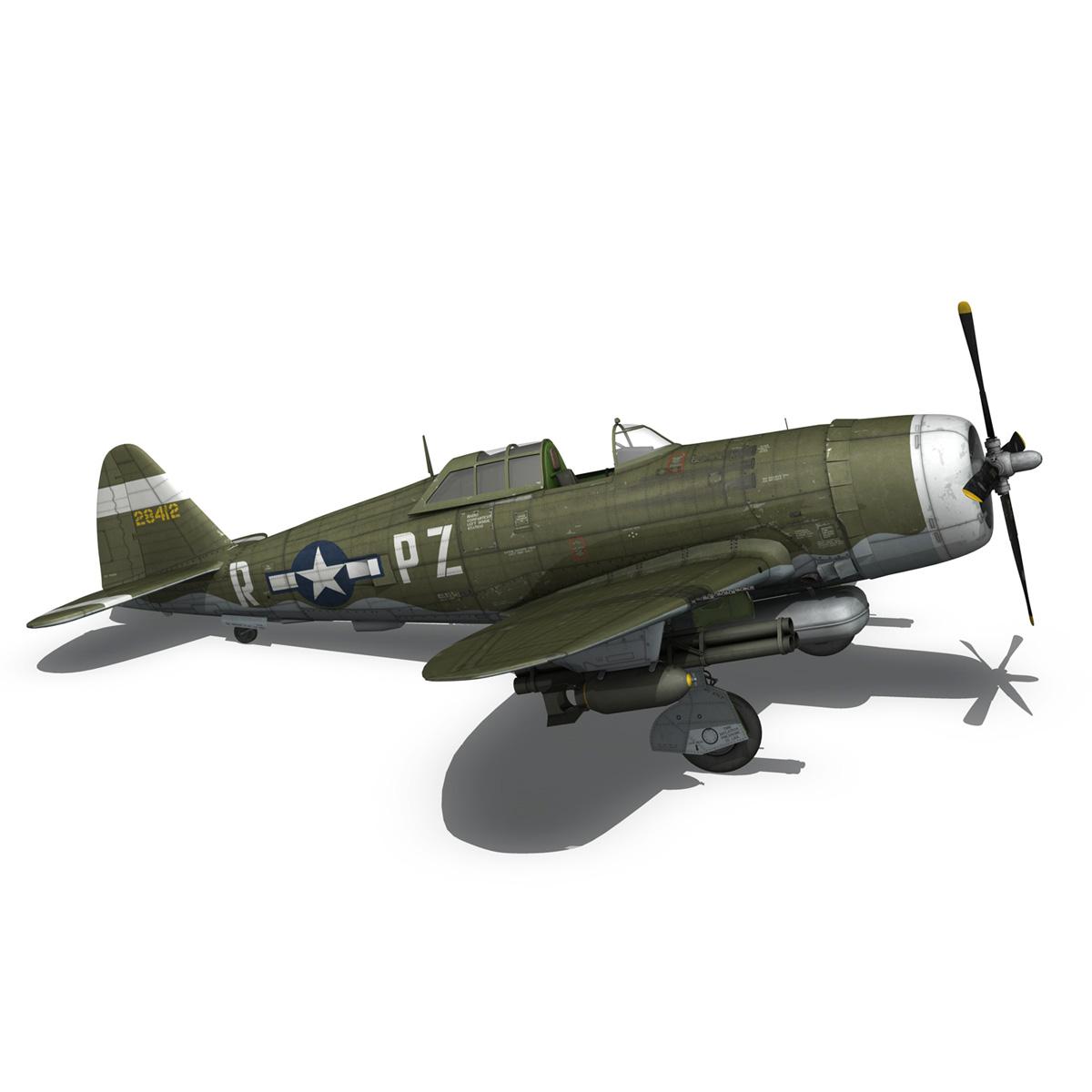 republic p-47d thunderbolt – sweetie – pz-r 3d model 3ds fbx c4d lwo obj 281847