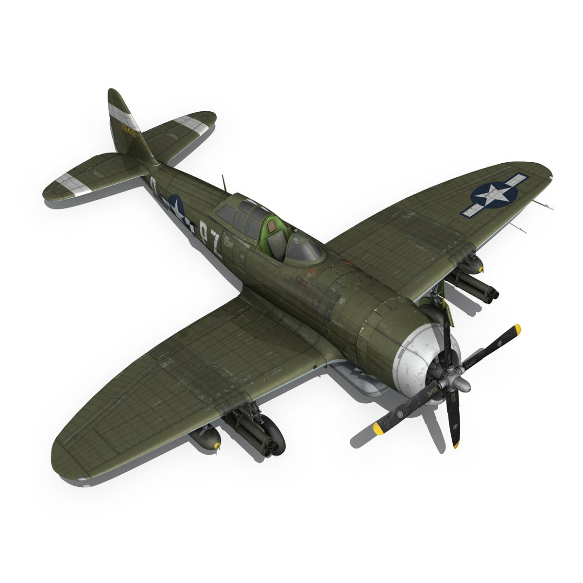 republic p-47d thunderbolt – sweetie – pz-r 3d model 3ds fbx c4d lwo obj 281848