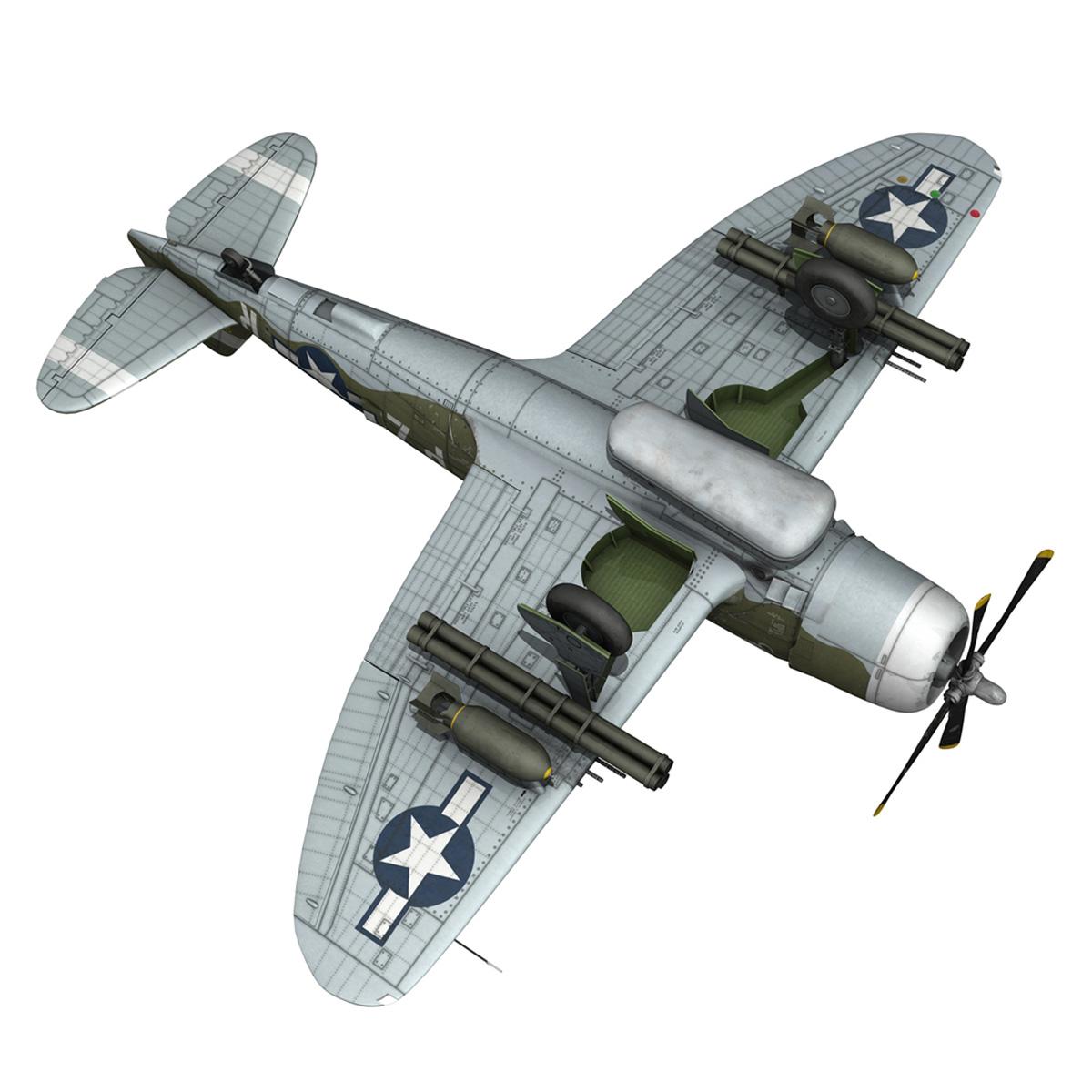republic p-47d thunderbolt – sweetie – pz-r 3d model 3ds fbx c4d lwo obj 281849