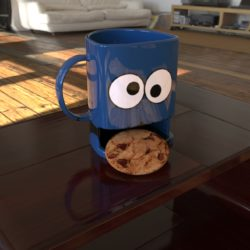 3D cookie mug 3d model ige igs iges   obj