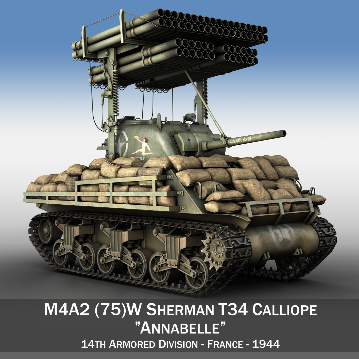 m4a3 calliope annabell 3d model 3ds fbx c4d lwo obj 282097