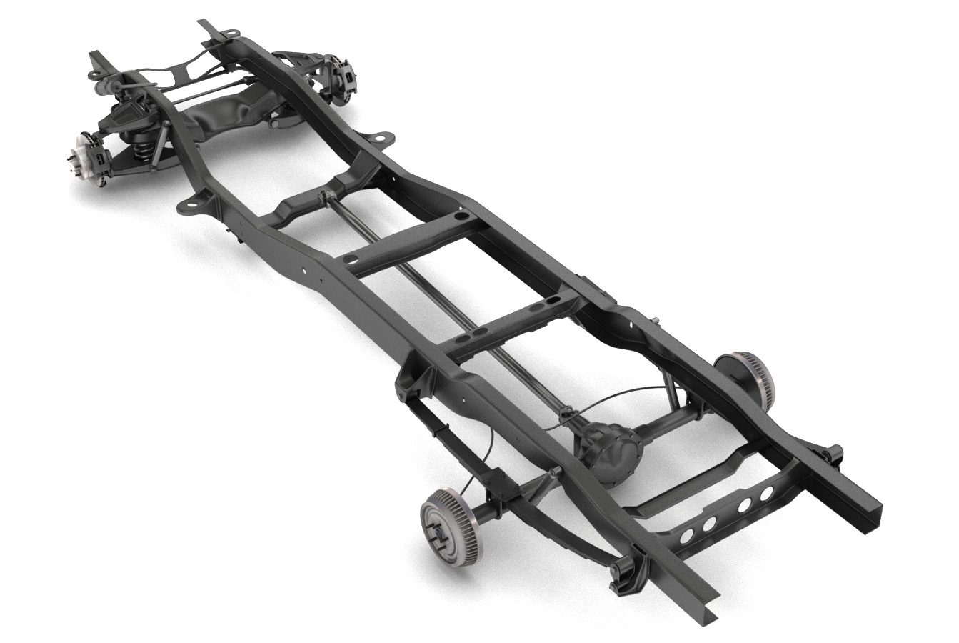 pickup truck chassis 2wd 3d model 3ds max fbx obj 282144