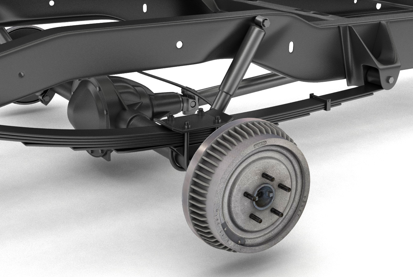 pickup truck chassis 2wd 3d model 3ds max fbx obj 282146