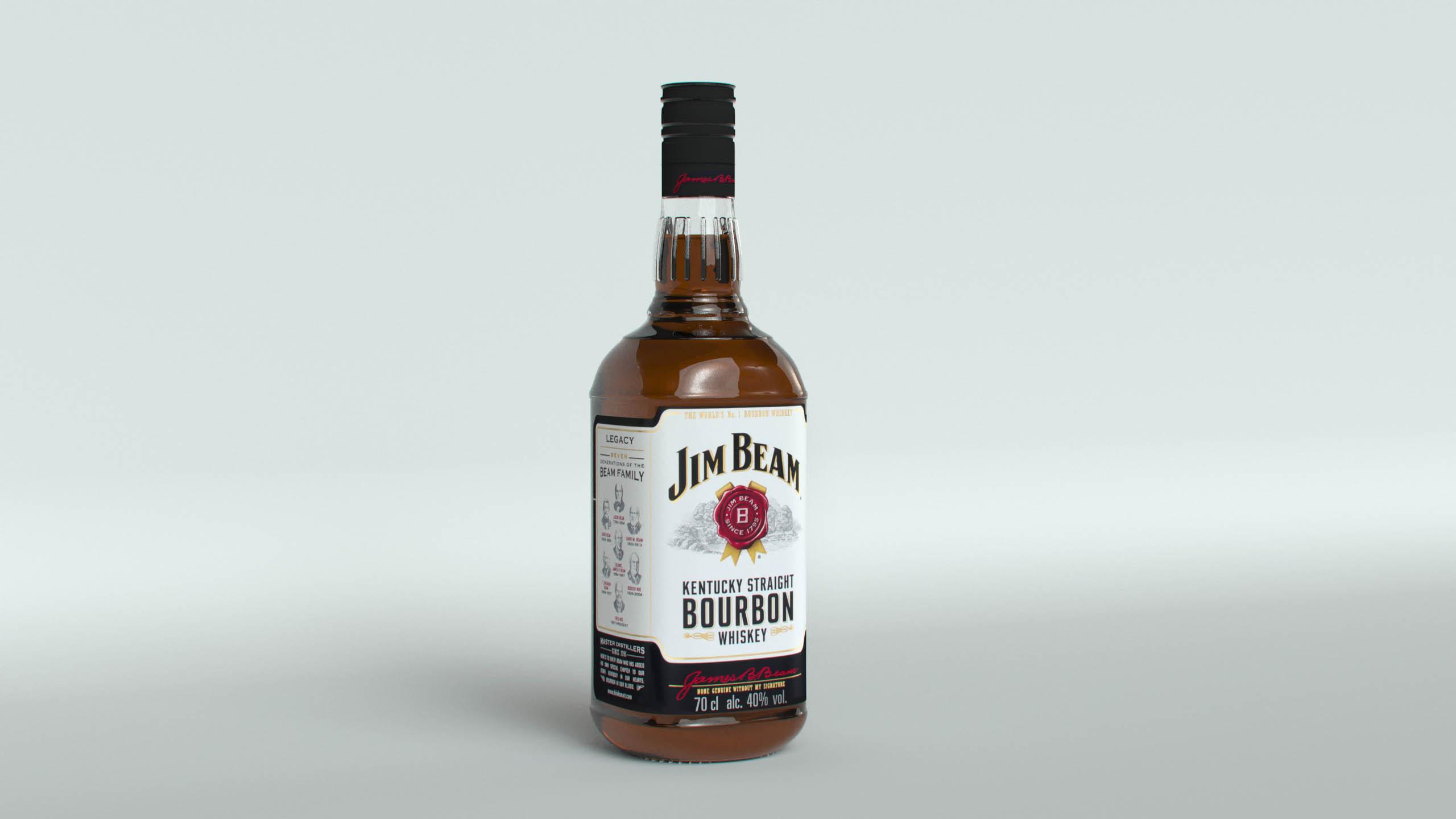 Jim Beam Original Bottle with new edition labels 3d model max fbx  obj 282184