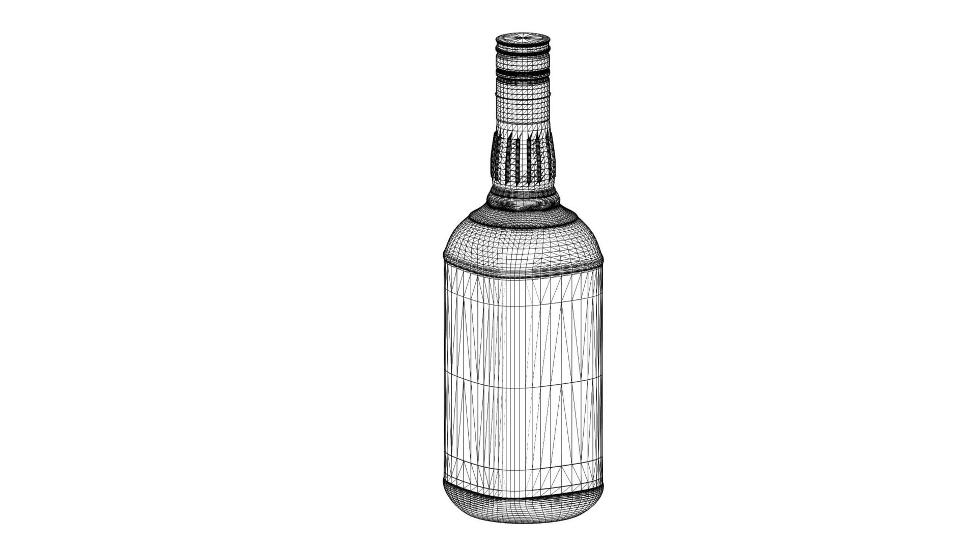 jim beam original bottle with new edition labels 3d model max fbx texture obj 282190