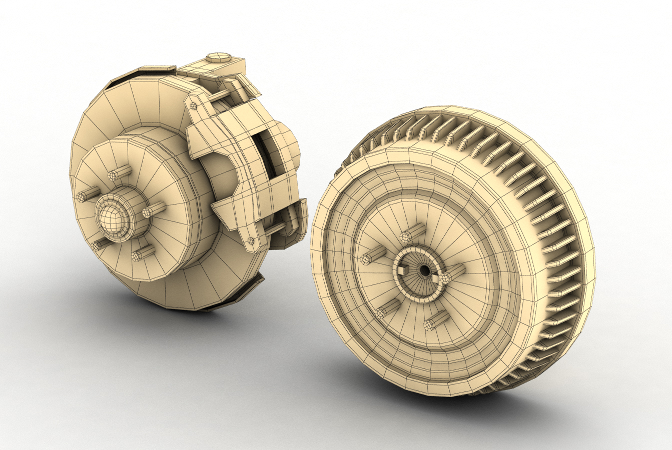 car and truck brake set 3d model 3ds max fbx obj 282207