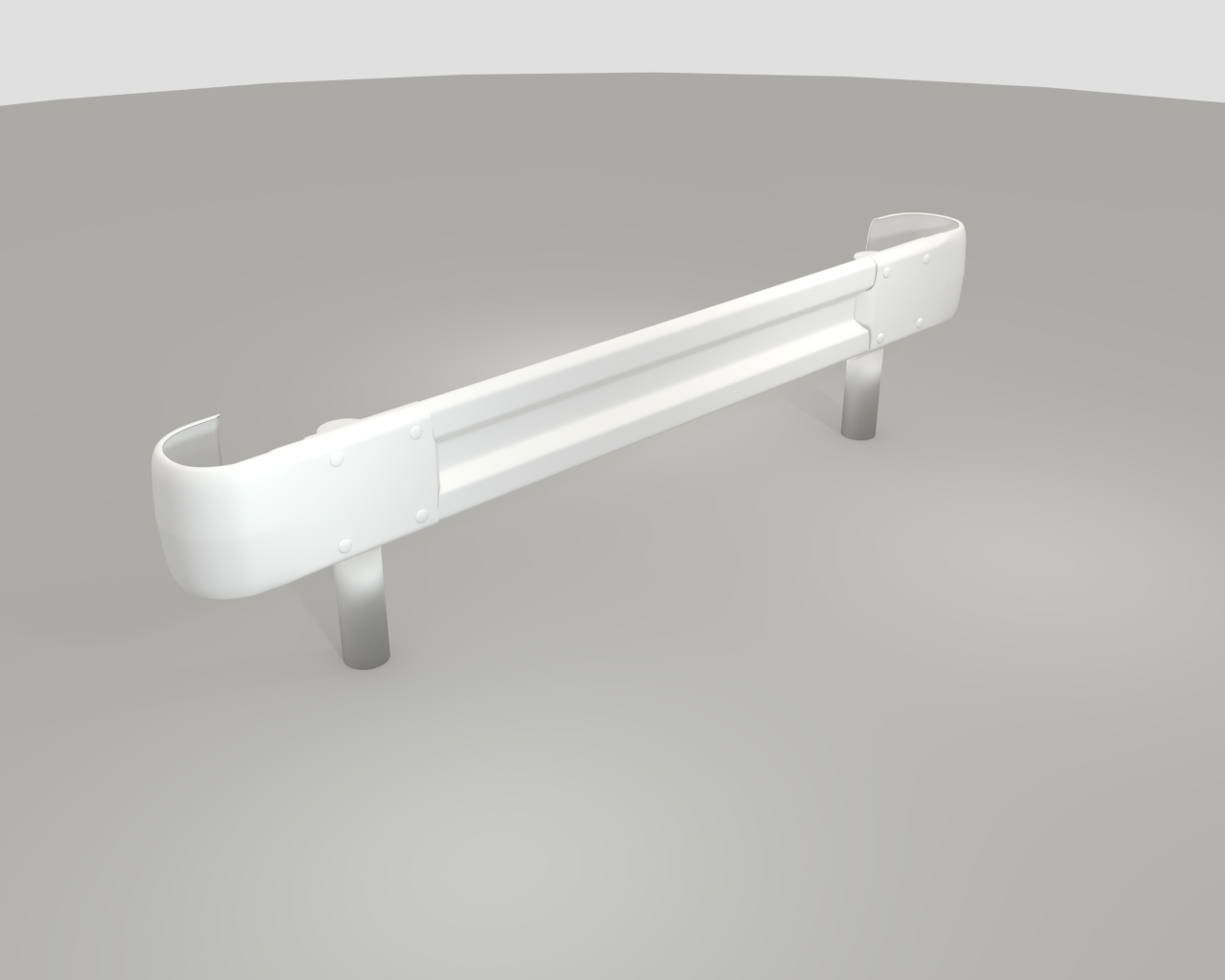guardrail in japan 3d model fbx 282217