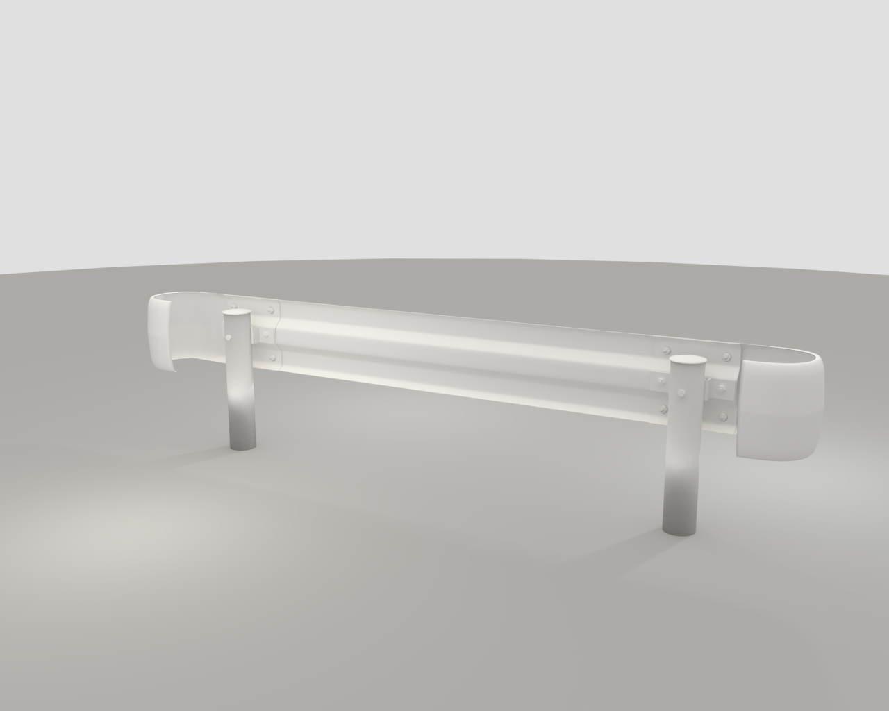 guardrail in japan 3d model fbx 282218