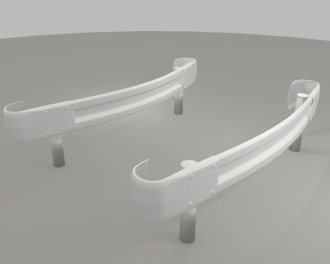 guardrail curved in japan 3d model dxf fbx obj 282235