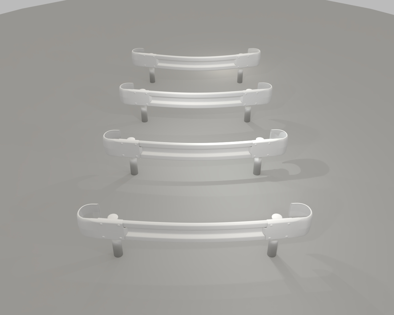 guardrail curved in japan 3d model dxf fbx obj 282236